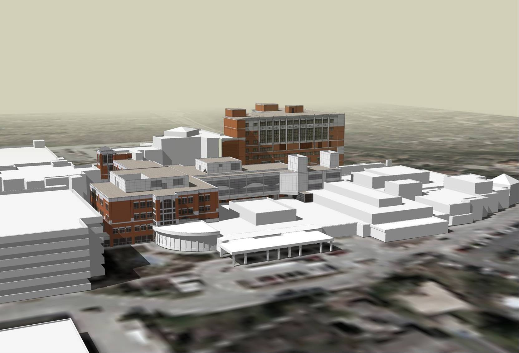 Edward Hospital is seeking permission to add two floors of patient beds to the west building on its Naperville campus.