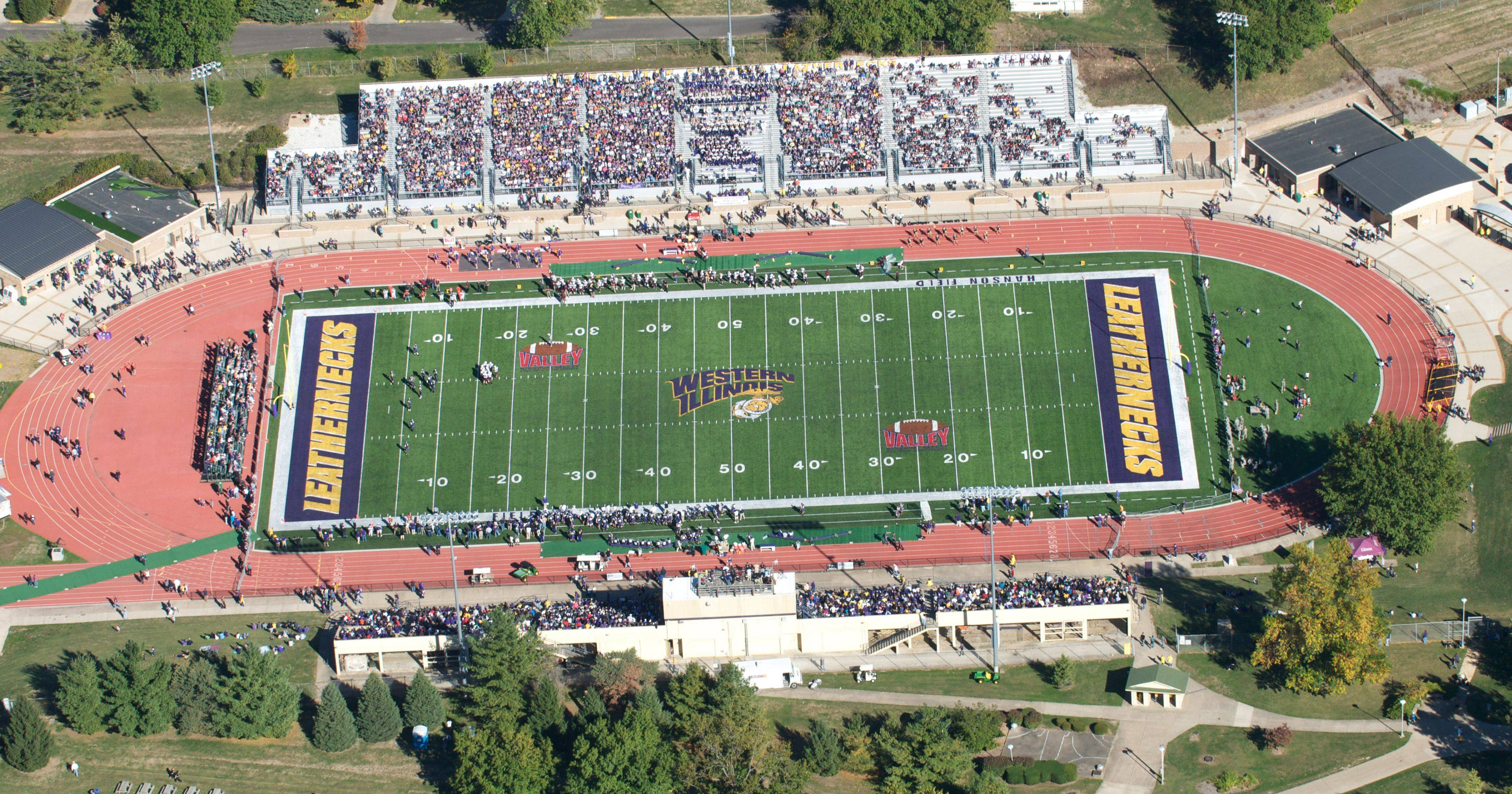 Mundelein High School officials visited Hanson Field at Western Illinois University in Macomb in September. The attorney general's office has said the gathering violated the Open Meetings Act because of the distance from Mundelein.