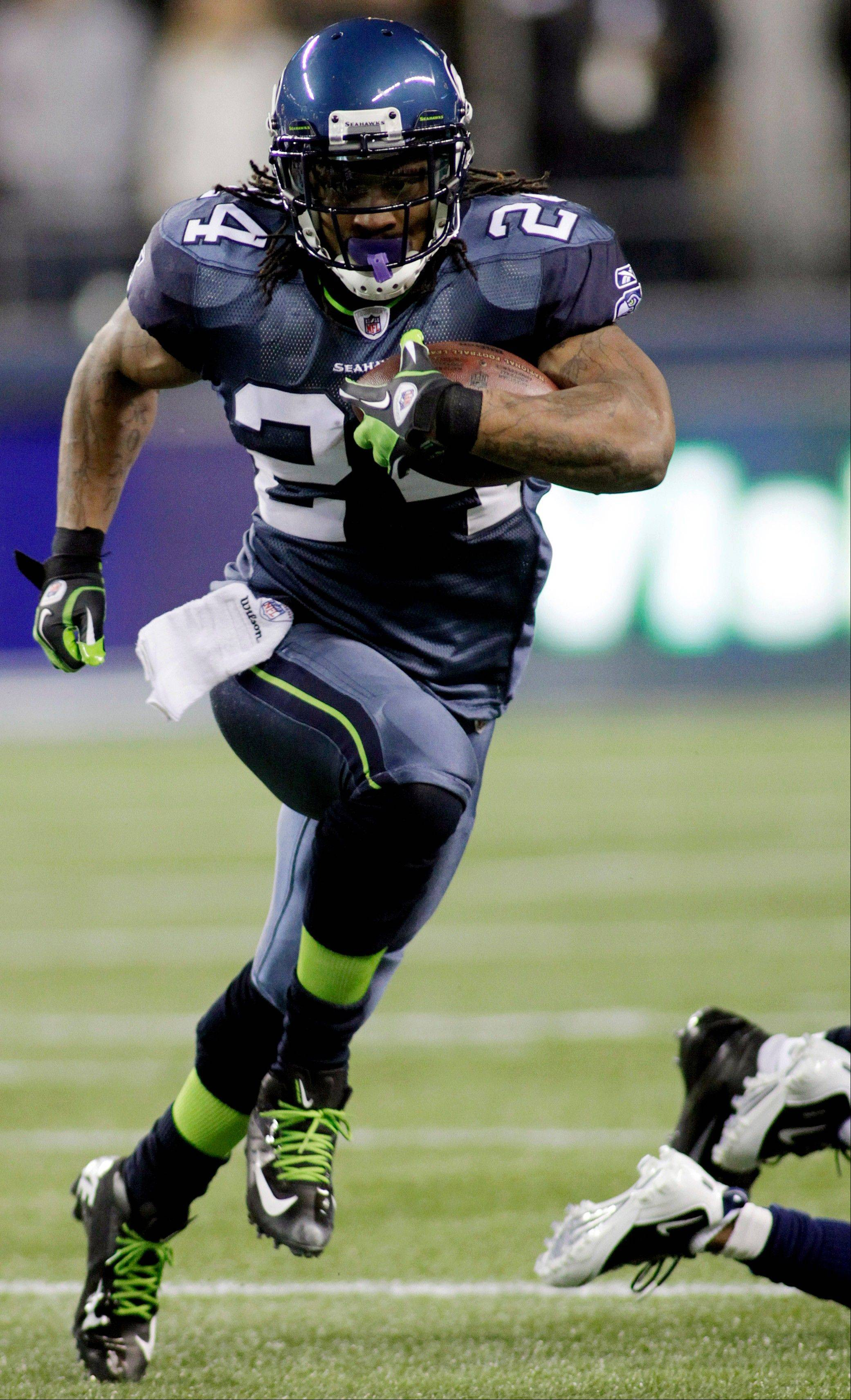 Seahawks running back Marshawn Lynch has averaged 117.7 yards over the last six games.