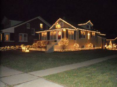 The Zwarts at 249 W. Palatine Road have roughly 4,000 lights strung on their bungalow.