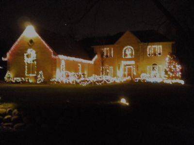 The Daneks love decorating their house at 5175 Old Plum Grove Road in Palatine.