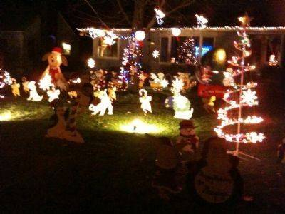 The Murphys have been decorating their home at 1326 N. Webster Street in Naperville since 1999 with homemade figurines that now spill over into neighbors' yards. Singing mice, candy canes, Dalmatians, Santa Train and Life Size Nativity are some of the characters you will find. Santa will be making an appearance on Dec. 17, 18, 22 and 23 from 6 to 9 p.m.