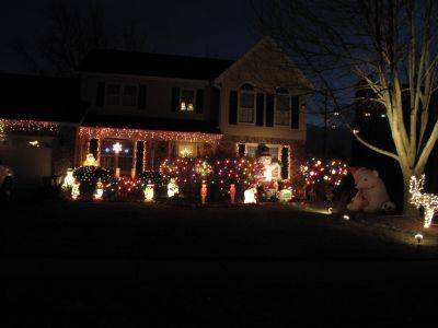 Jamie Pfeffer has taken charge of the decorating at 986 Dorset Drive in Wheaton. The display grows a little each year, especially the blow molds.