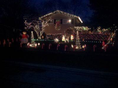The Caswells light up their home at 1353 Leslie Lane in Glendale Heights.