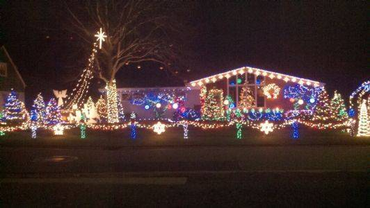 The Gerrasch Spectacular Holiday Lights Display has more than 20,000 LED lights on display at 194 Fay Avenue in Avon Lake. Jim Gerrasch decorate the house and also dresses up as Santa on the night of the Lights Tour of Avon Lake and hands out treats and gifts to the kids.