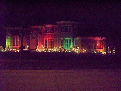Christmas Lights At The Lis House At 515 W. Torrey Pines Way In Vernon Hills