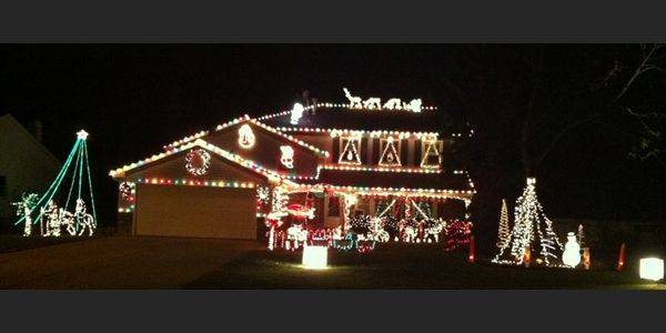 The Evensens Winter Wonderland at 585 Carriage Drive in Batavia has a synchronized show on a private radio station.