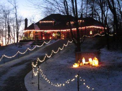 The Hoheland home at 3N040 Springwood Lane in Elburn features a lighted driveway, manger display, icicles and lots of lights.