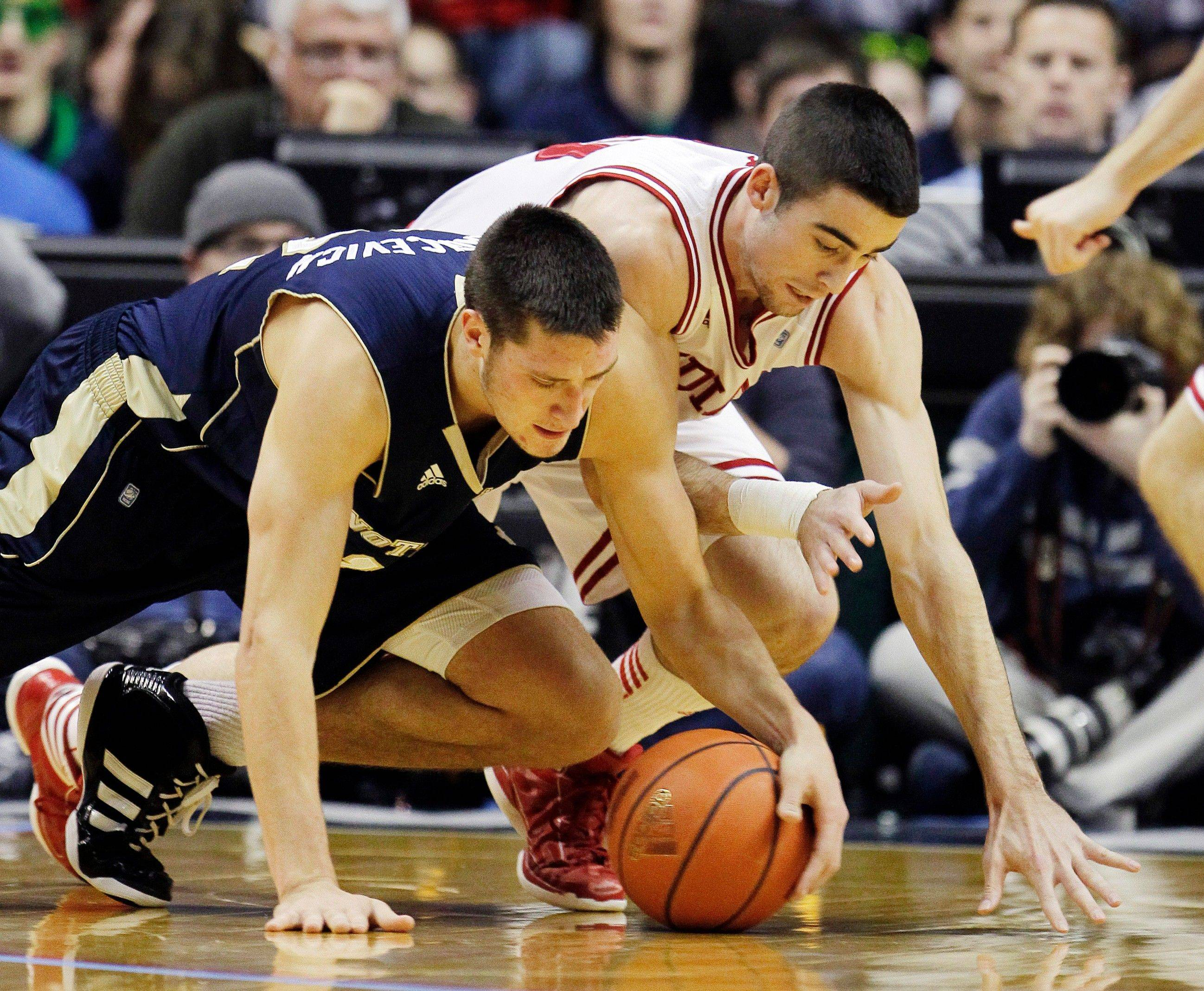 Irish struggle in 69-58 loss to No. 18 Indiana