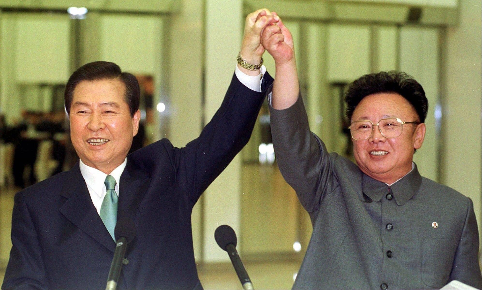 Kết quả hình ảnh cho picture of kim jong-il and kim dae yong