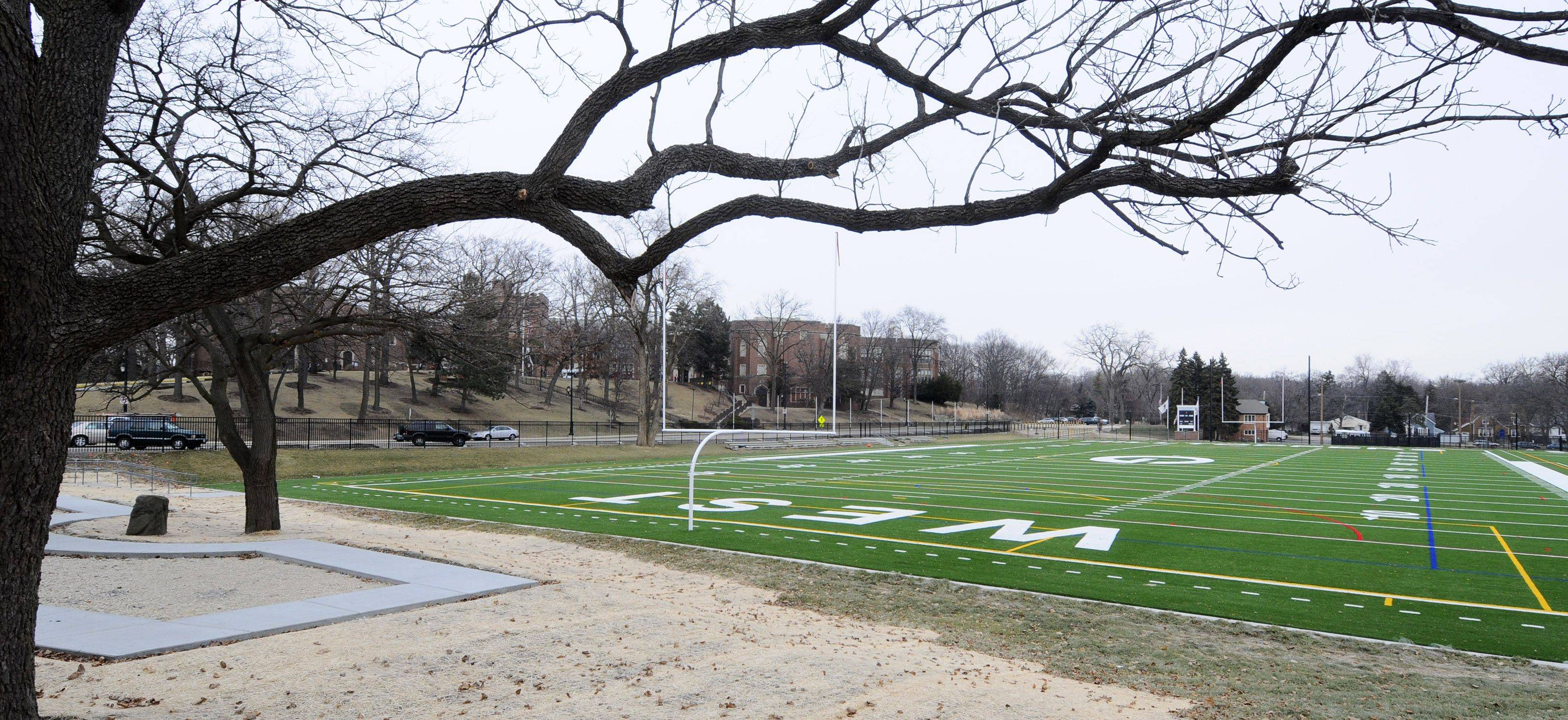 Glenbard High School District 87 is seeking permission from Glen Ellyn to install lights at Glenbard West High School's practice field.