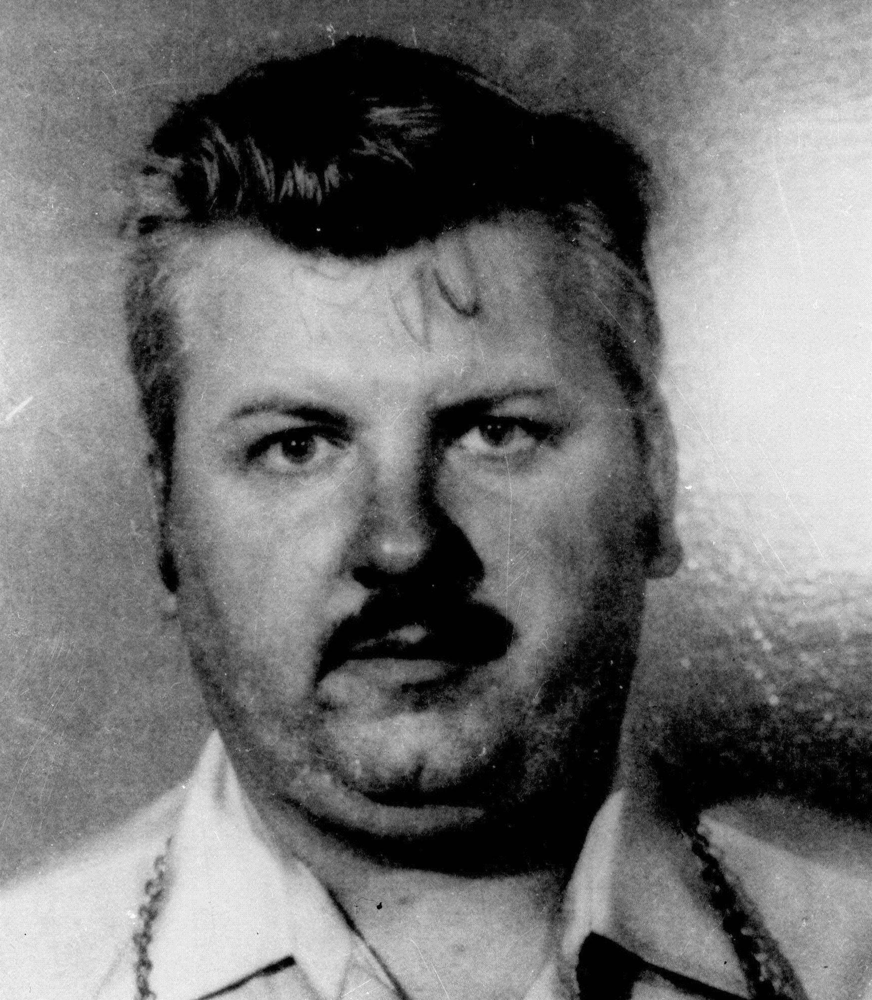 This 1978 file photo shows serial killer John Wayne Gacy, who was put to death after being convicted of killing 33 young men and burying many of them in his home in unincorporated Norwood Park Township.