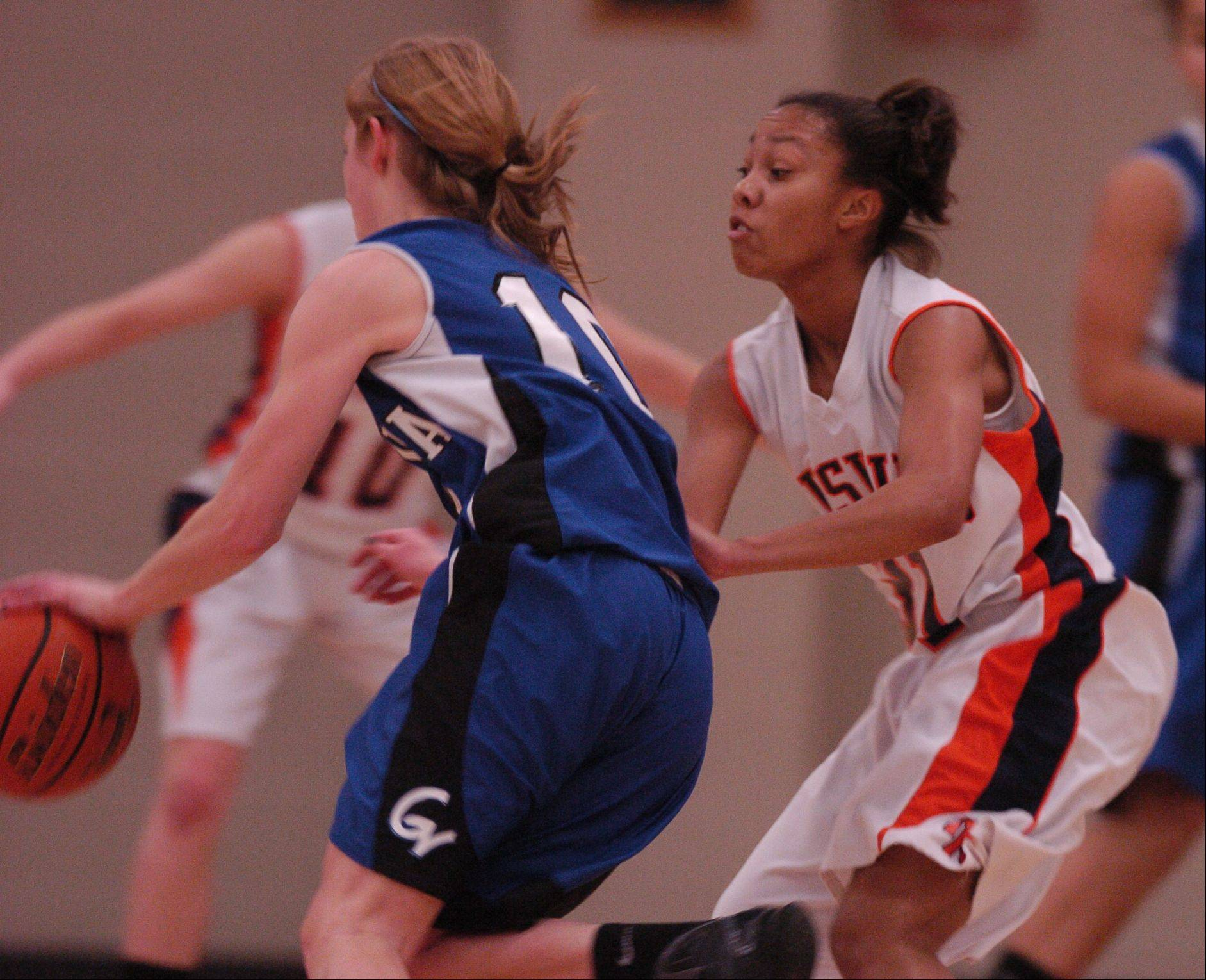 Images from the Naperville North vs. Geneva girls basketball game Thursday, December 22, 2011.
