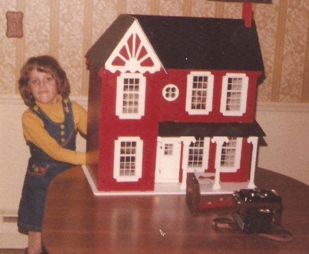 Aunt Mary and Uncle Carl Brandon gave Michelle Holdway this dollhouse for Christmas in 1979. They made it themselves, and she played with it for years.