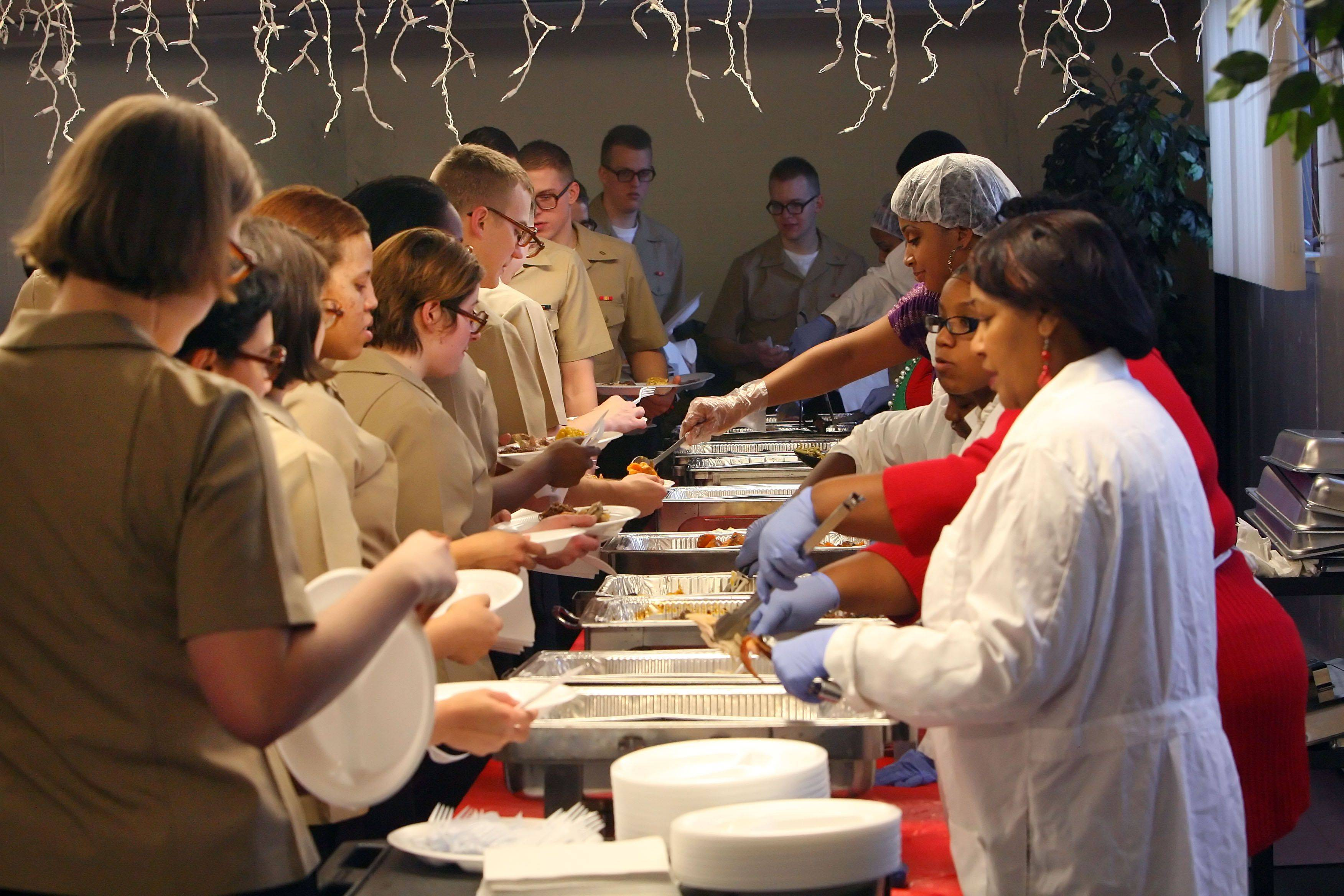 North Chicago church makes day merry for Navy recruits