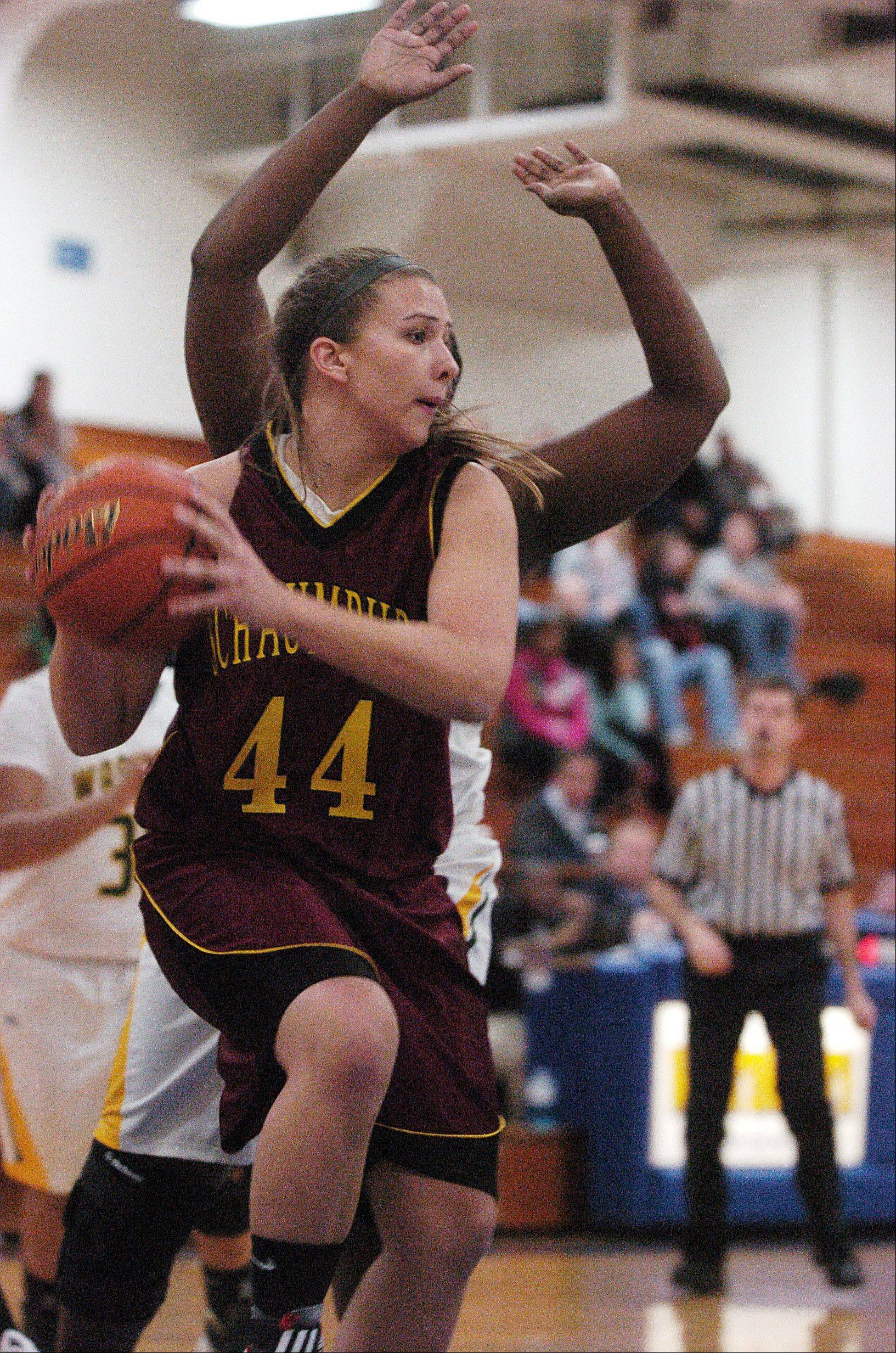 Images from the Waubonsie Valley vs. Schaumburg girls basketball game Monday, December 26, 2011.