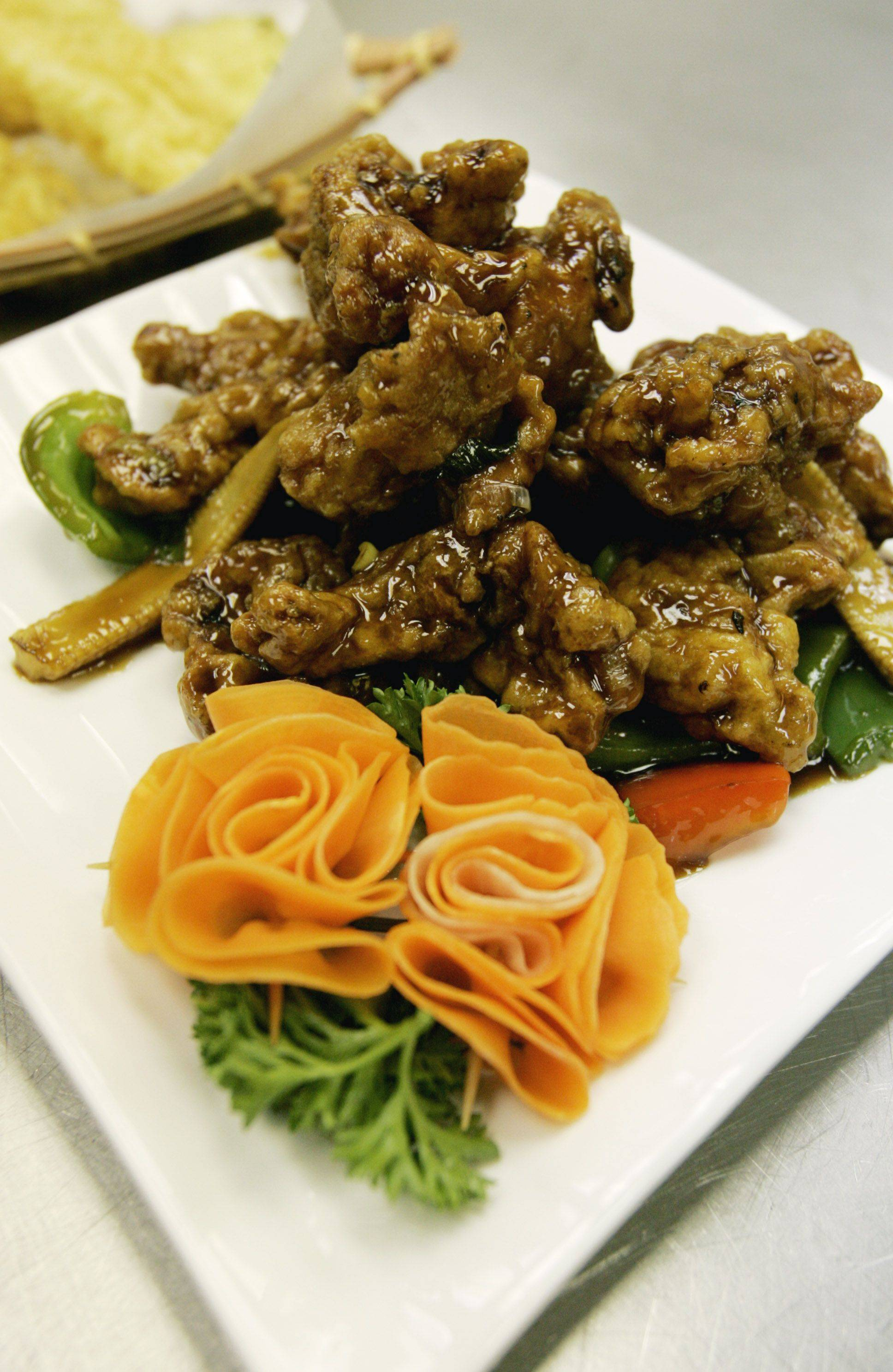 General Tso's chicken is a customer favorite at Lu's Sushi and Chinese in Glen Ellyn.