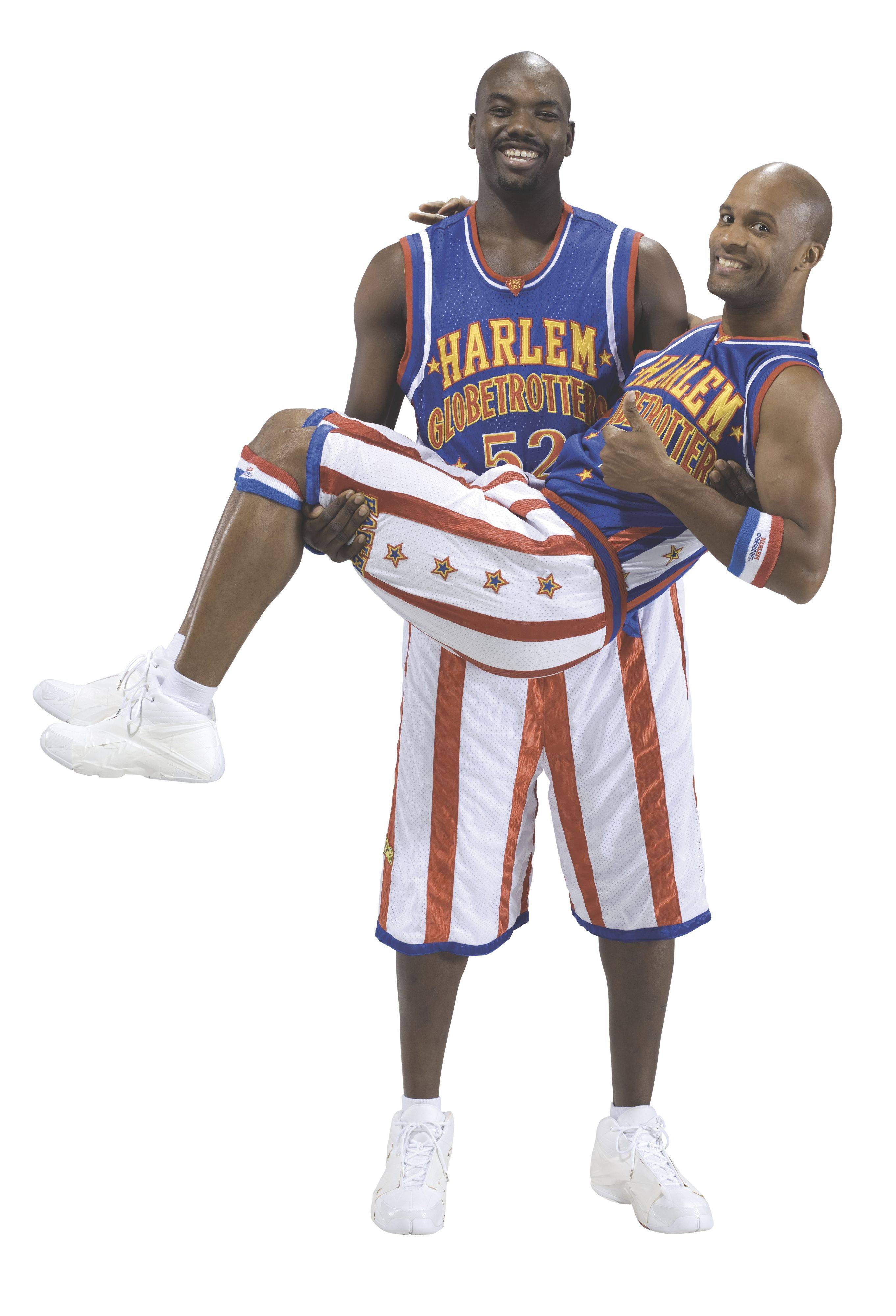 Big Easy Lofton and Flight Time Lang are just a couple of characters with the Harlem Globetrotters. They play at the Allstate Arena in Rosemont.
