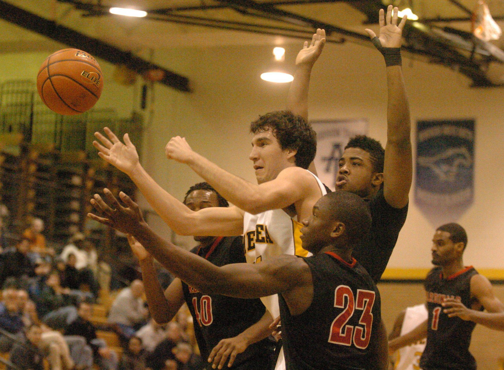 Images from the Metea Valley vs. Eisenhower boys basketball game on Tuesday, December 27, 2011.