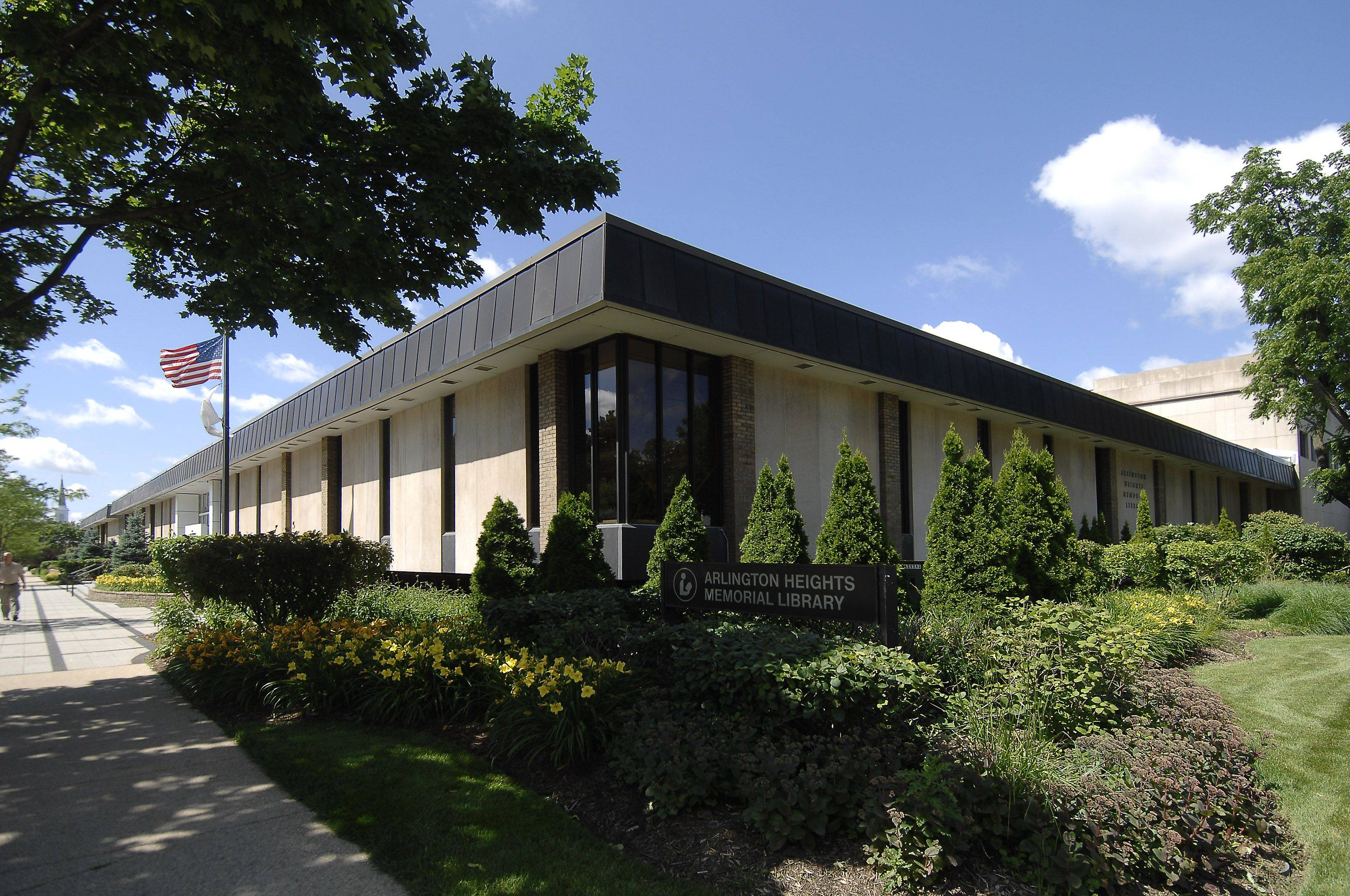 The outside of the Arlington Heights Memorial Library will remain the same, but the inside will be extensively remodeled in 2012.