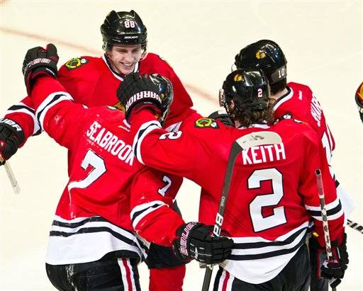 Seabrook does it all in Hawks' victory