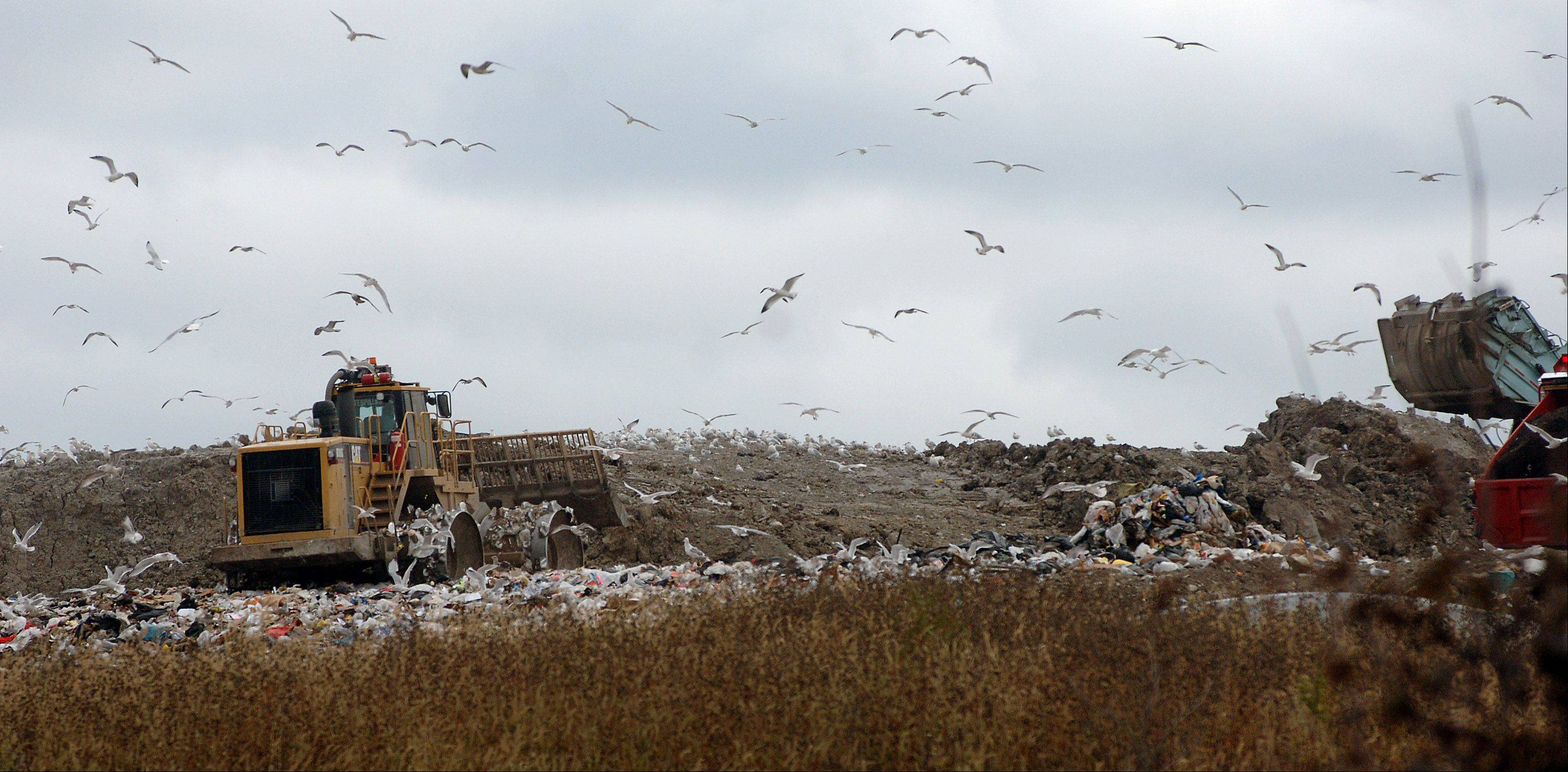There will be a big push to recycle more and dump less trash in landfills, such as the Countryside facility on Route 83 in Grayslake.