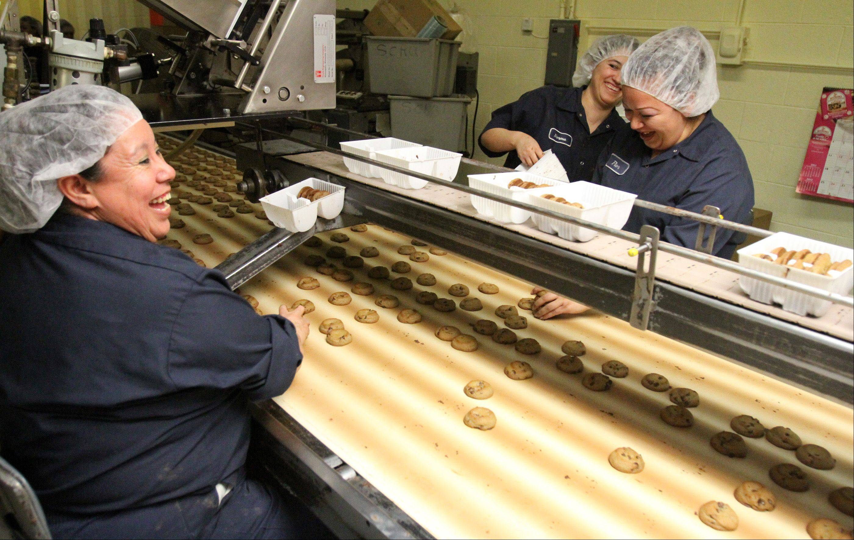 Matt's Cookies in Wheeling has 22 employees to make their cookies and 25 to distribute them to area stores.