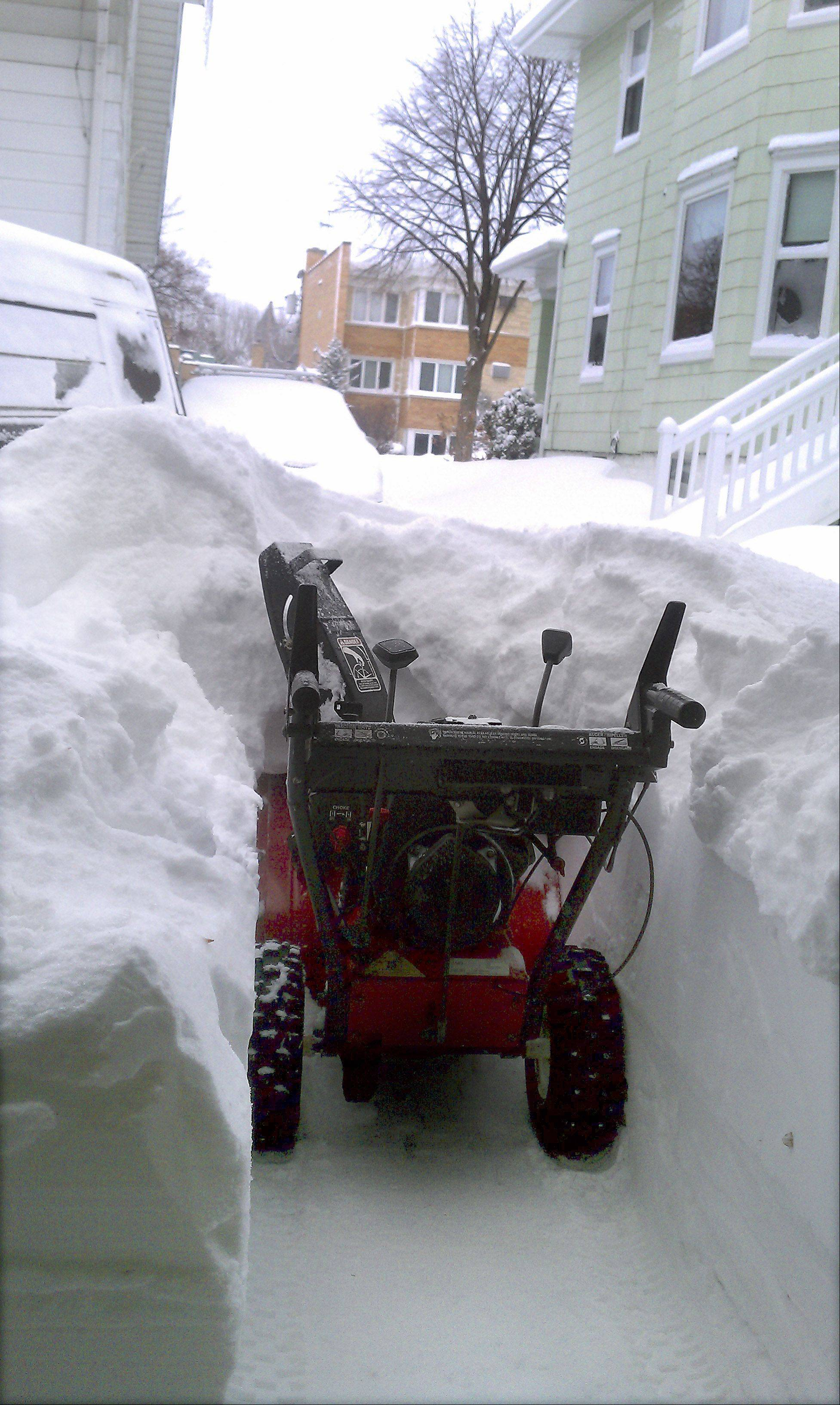 Getting to the snowblower was nearly as hard as clearing the driveway the morning of the blizzard of 2011.
