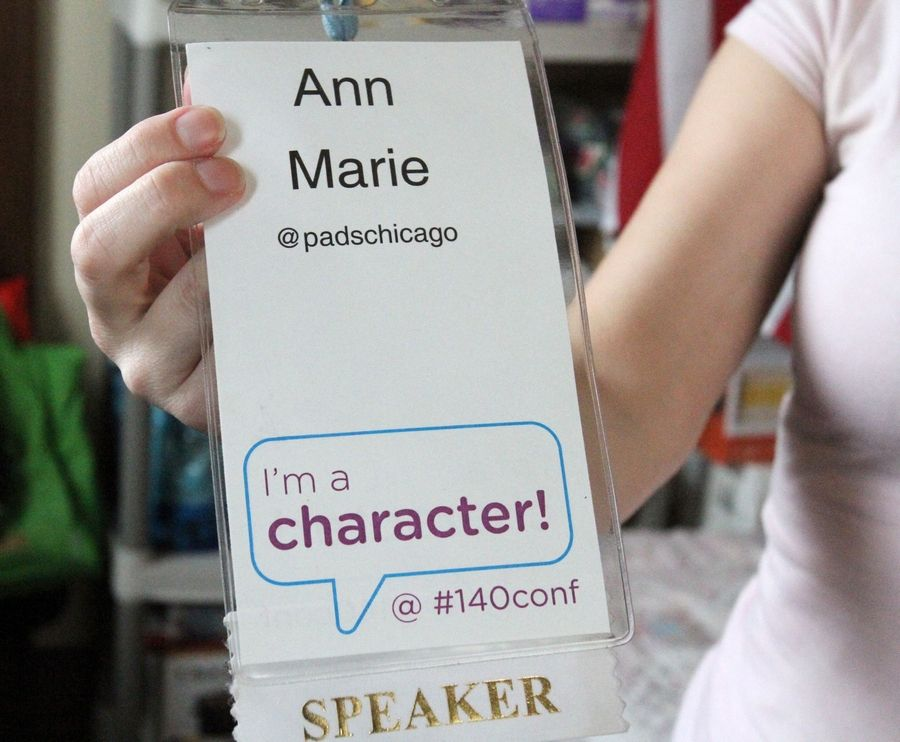 In 2009, while homeless in the Northwest suburbs, AnnMarie Walsh was invited to be a guest speaker at the 140 Character Conference in Los Angeles. The annual conference explores the effects of the emerging real-time Internet on people, business and entertainment.