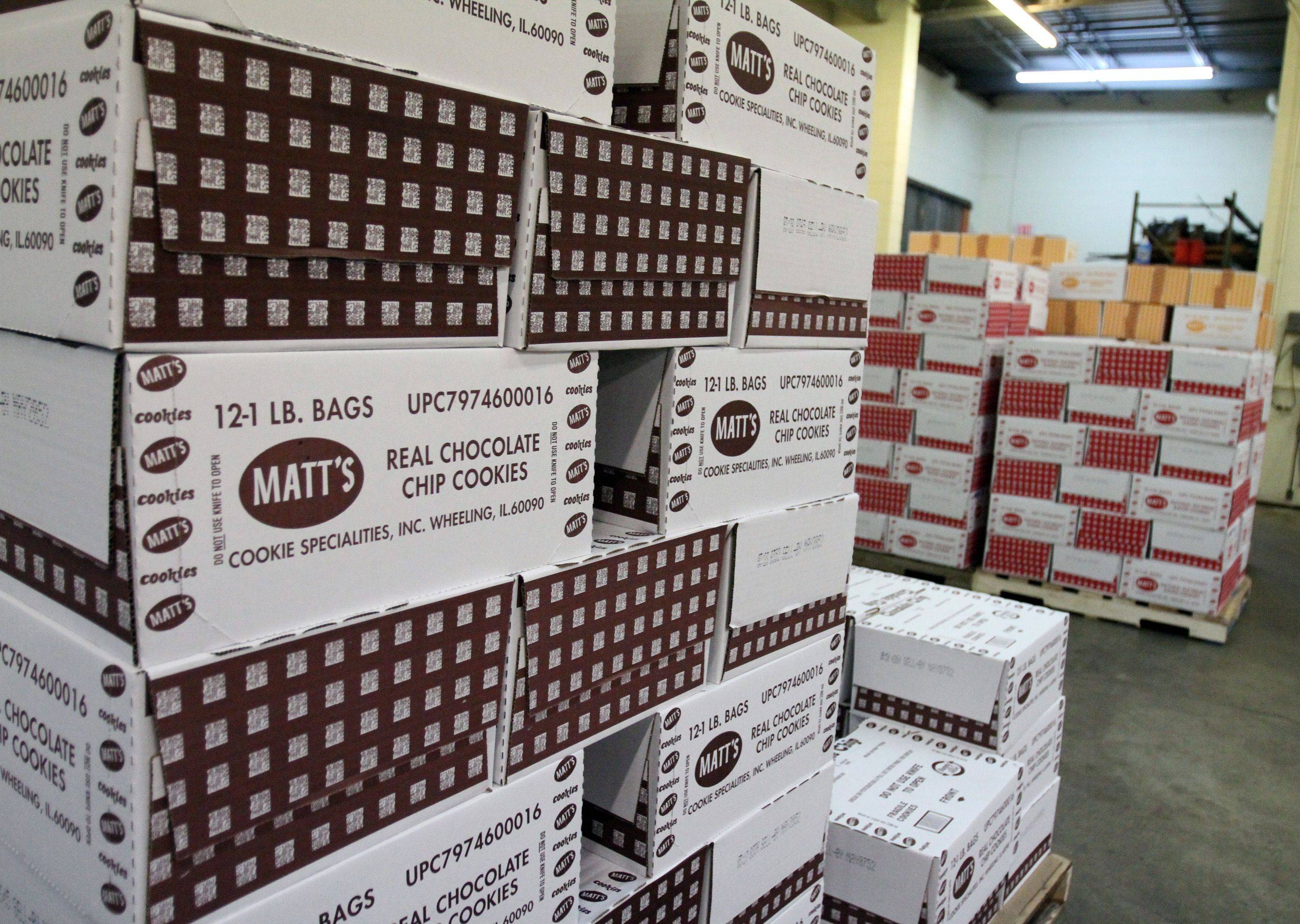 Matt's Cookies was founded in Wheeling in 1980 and makes 25,000 pounds of cookies each day.
