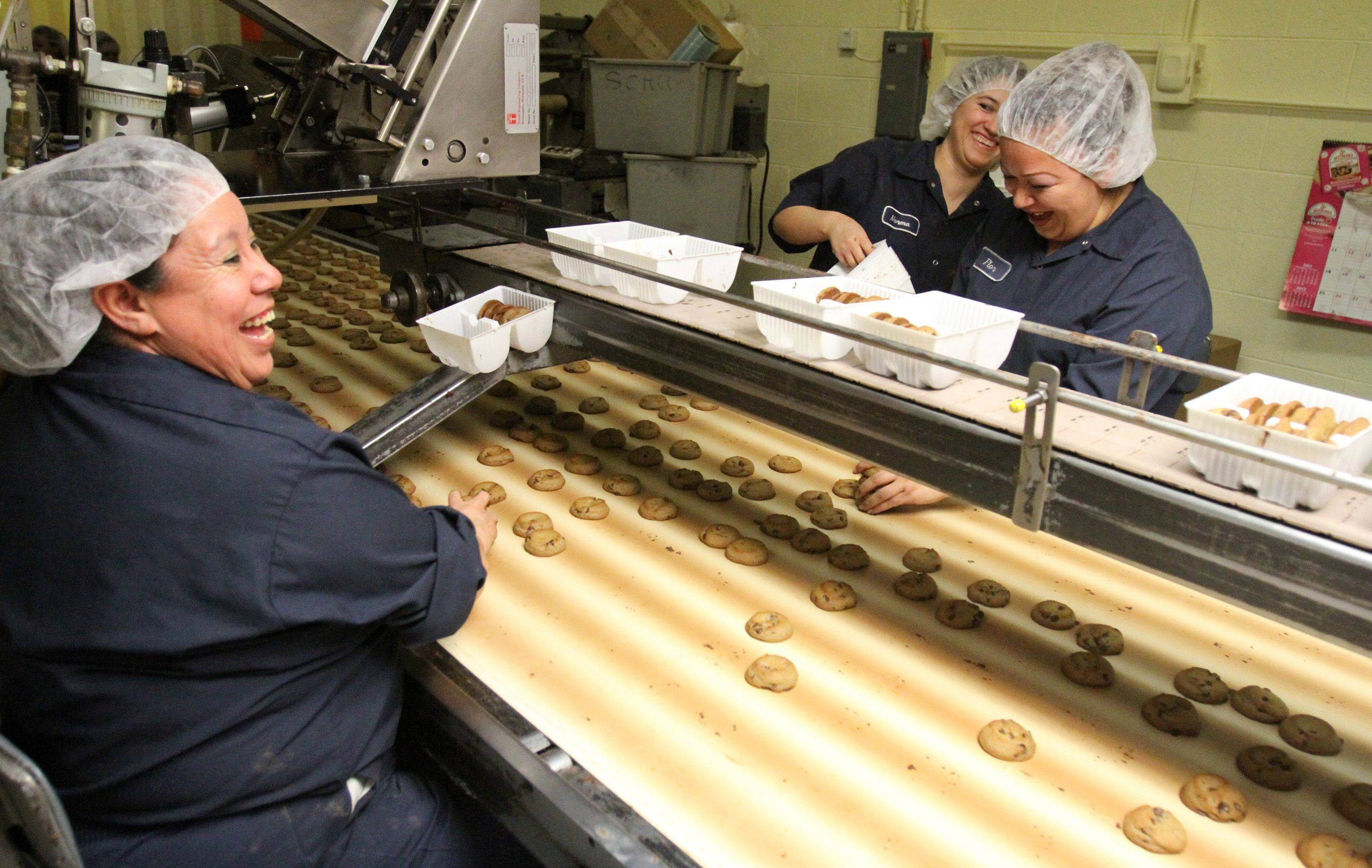 Matt's Cookies in Wheeling has 22 employees make their cookies and 25 to distribute them to area stores. Matt Pierce said all of the cookies have to be hand packaged because they are made just like people make them at home and therefor are different sizes and shapes.
