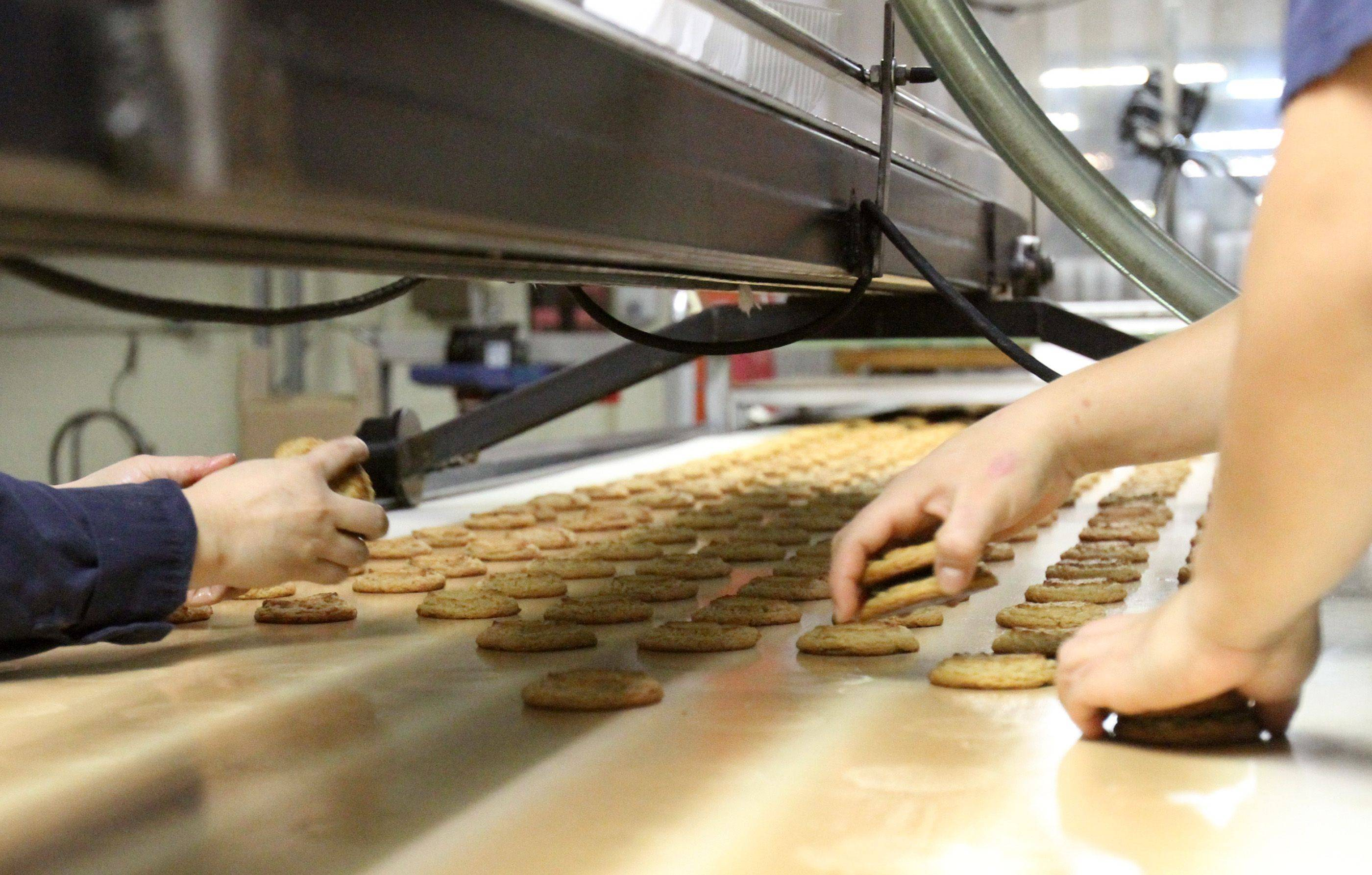 Matt's Cookies owner Matt Pierce said all of the cookies have to be hand packaged because they are made just like people make them at home and therefore are different sizes and shapes.