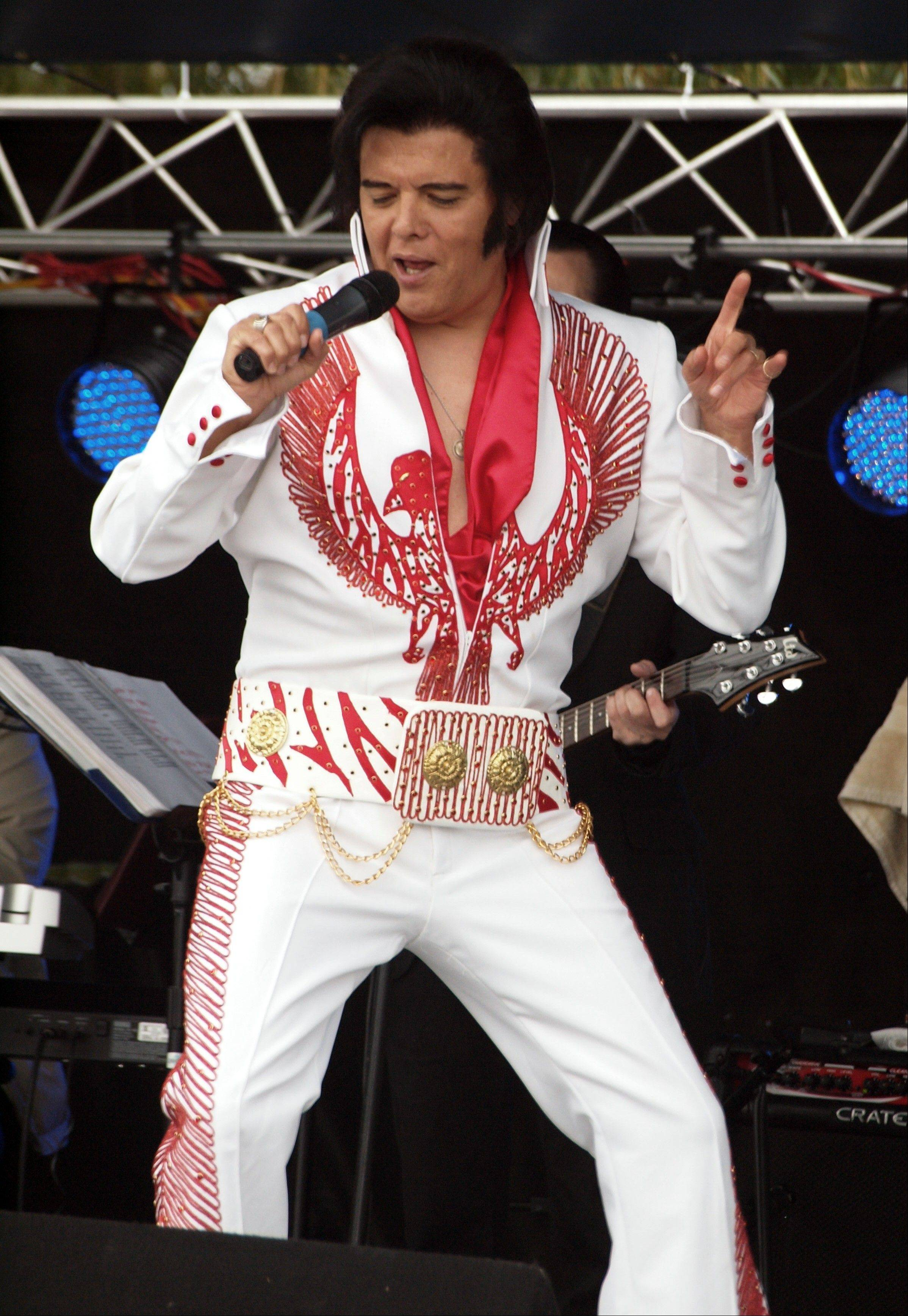 Elvis Presley impersonator Rick Saucedo of West Chicago joins the Elvis Tribute Artist Spectacular on Friday, Jan. 6, at the Paramount Theatre in Aurora.
