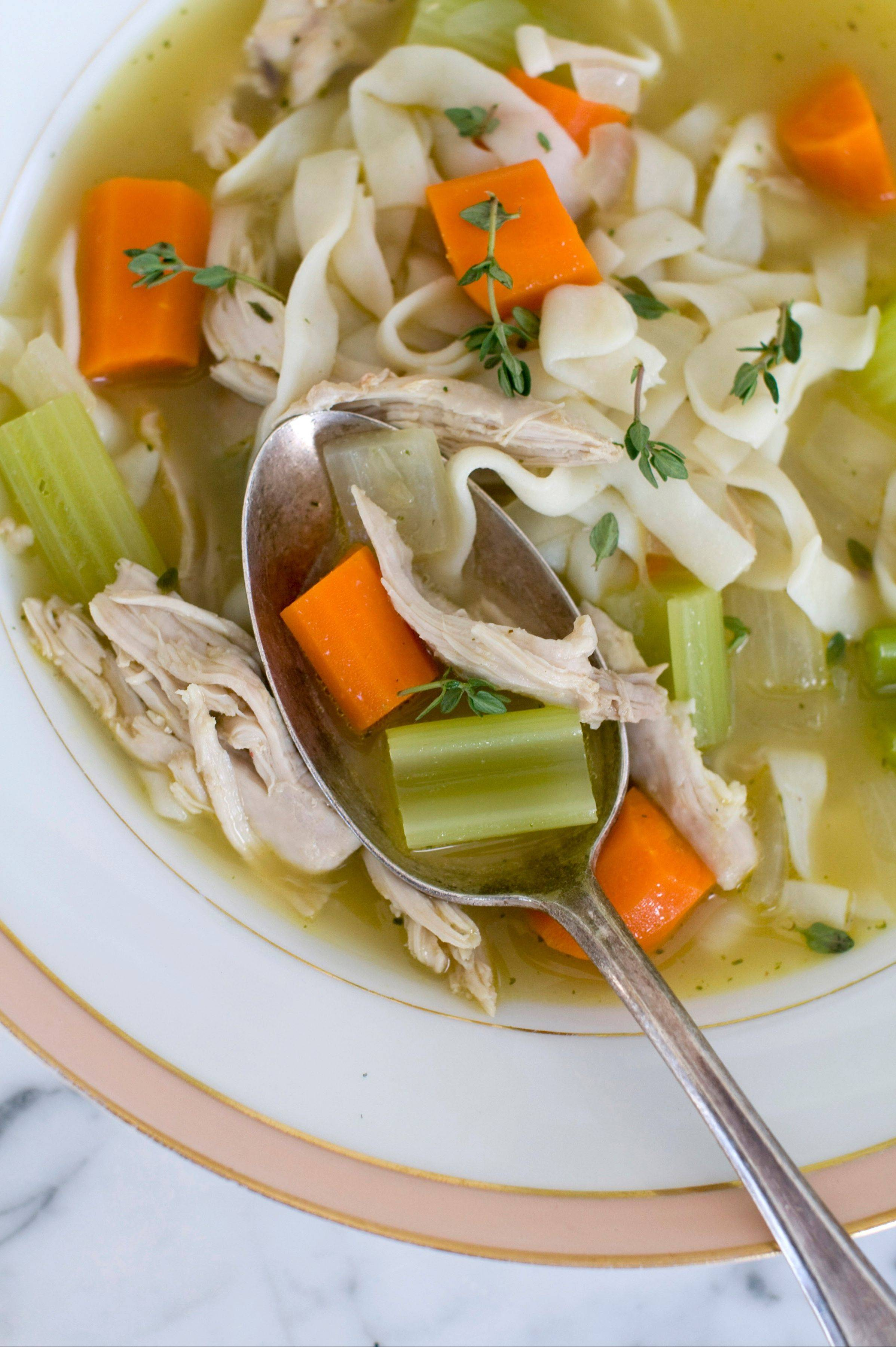 Rocco DiSpirito lightens up classic chicken soup