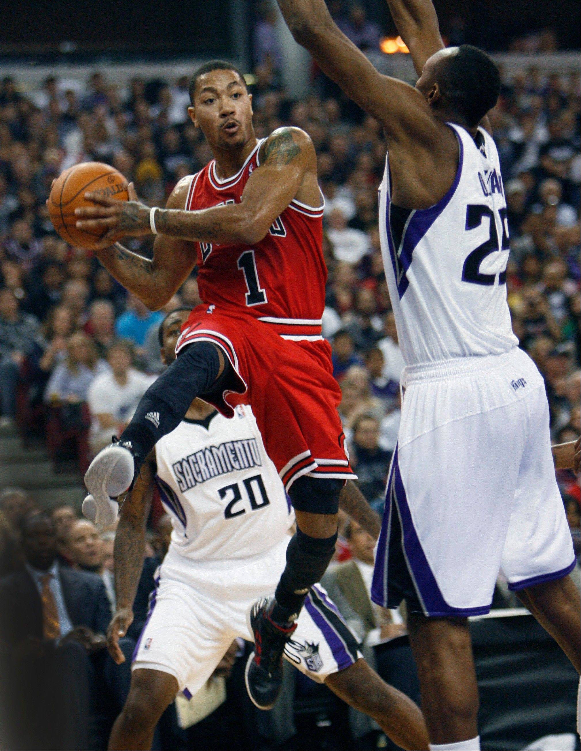 Chicago Bulls guard Derrick Rose is one of five Bulls on this year's NBA all-star ballot for the Feb. 26 game in Orlando. Voting is already under way at nba.com and through text and SMS services.