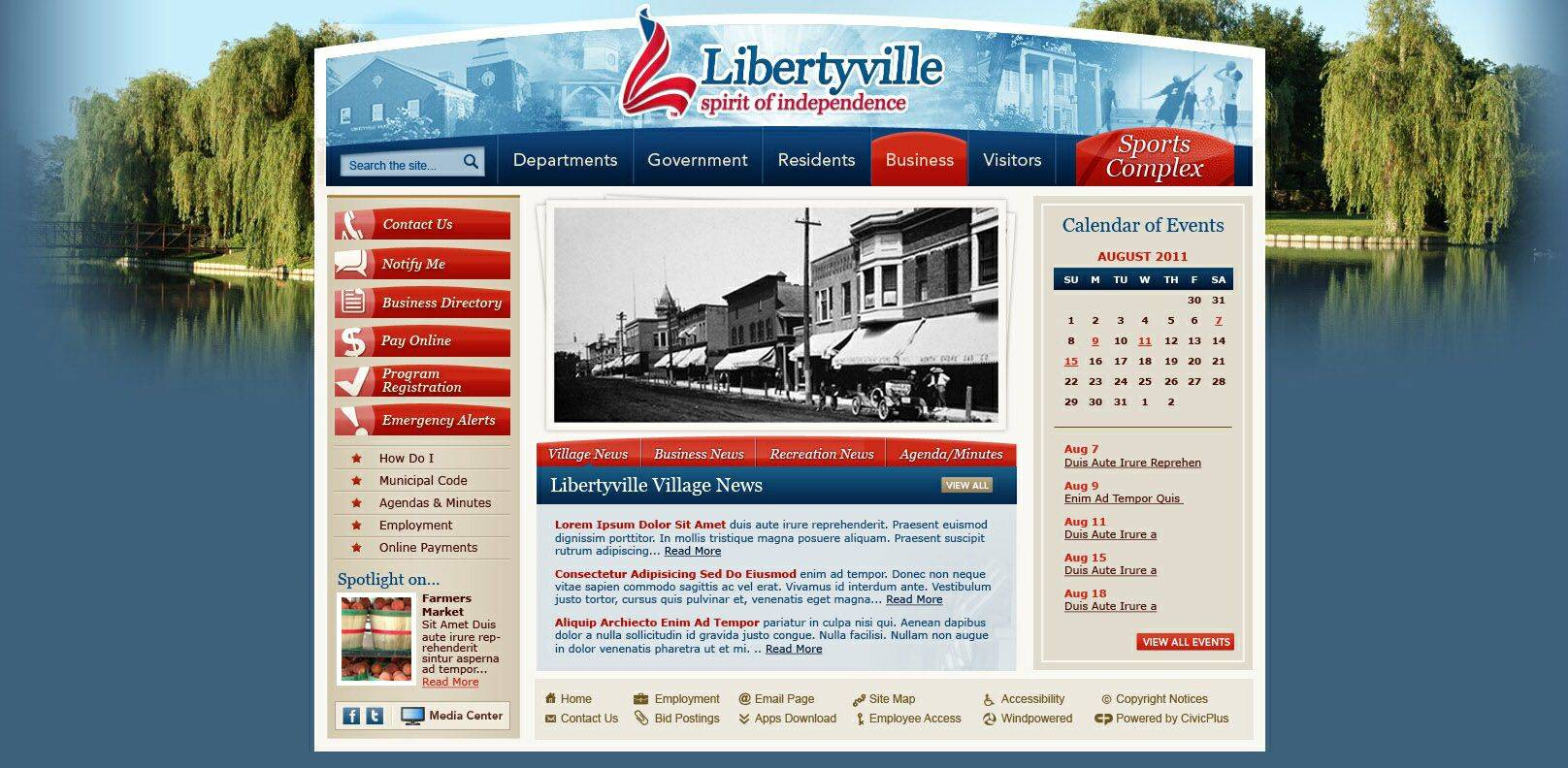 Libertyville is scheduled to debut a refreshed website, the first in about four years, on Jan. 20.