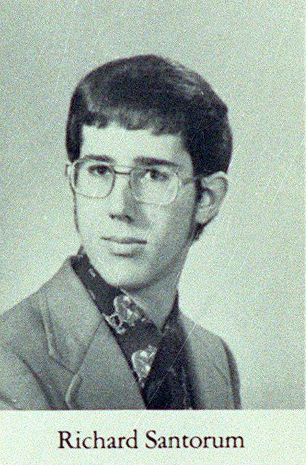 GOP presidential candidate Rick Santorum's senior yearbook photo at Carmel Catholic High School.
