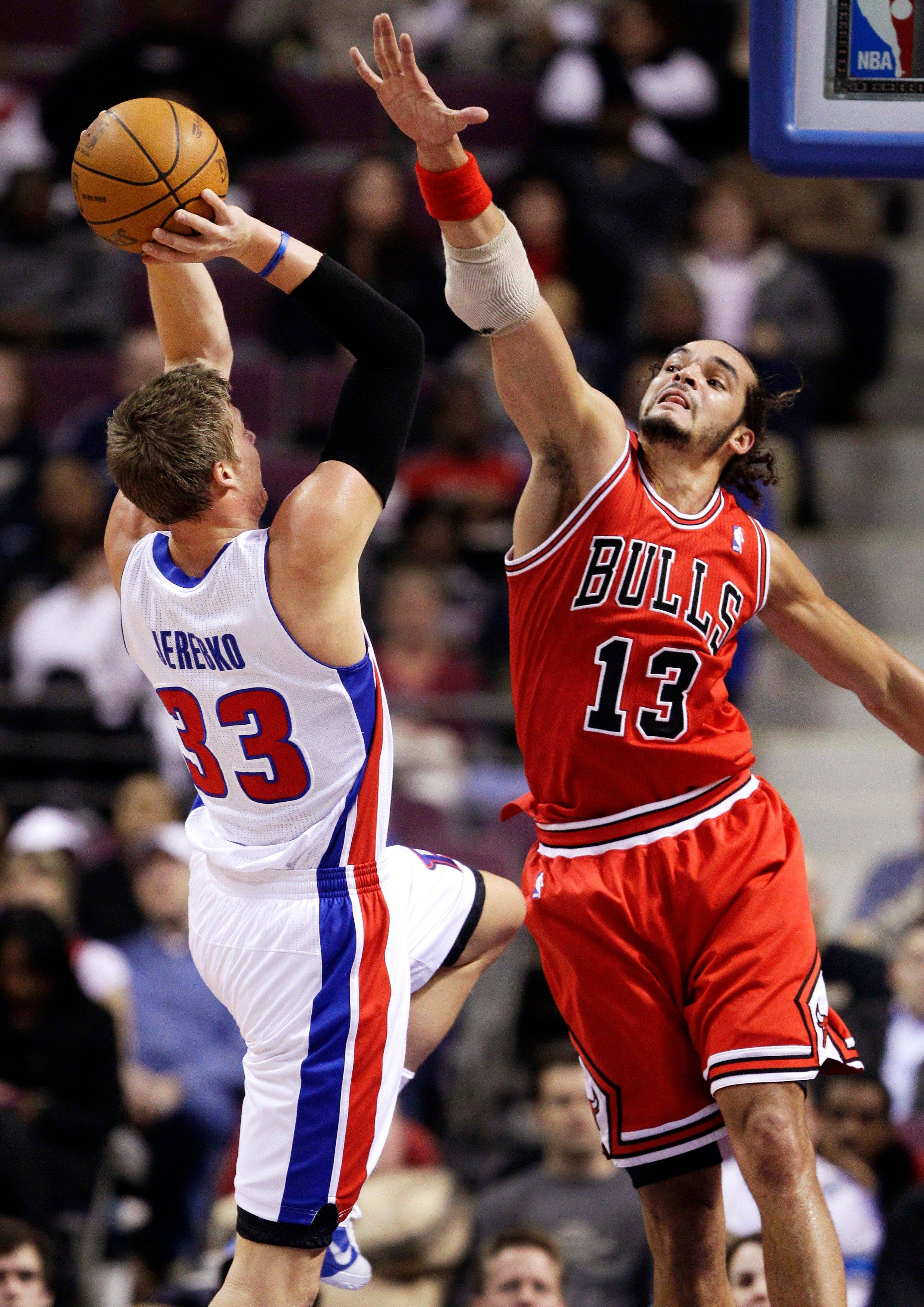 Bulls center Joakim Noah's numbers have been down so far, mostly because he has been in foul trouble.