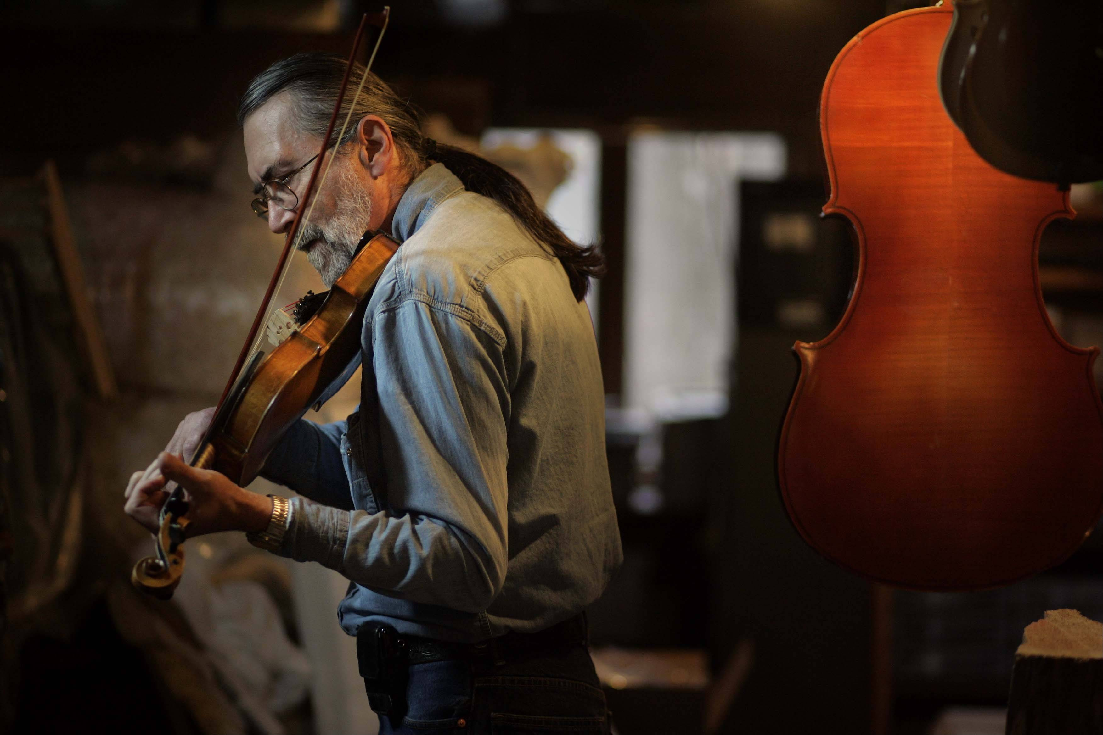 See inside Marengo man's instrument workshop