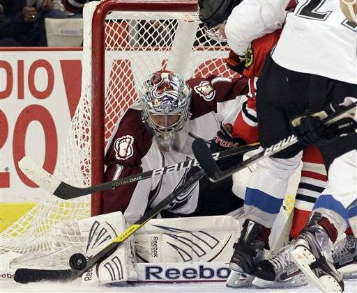 The Hawks couldn't find a way around Avalanche goalie Semyon Varlamov Friday night as he blanked them 4-0 at the United Center in Chicago.