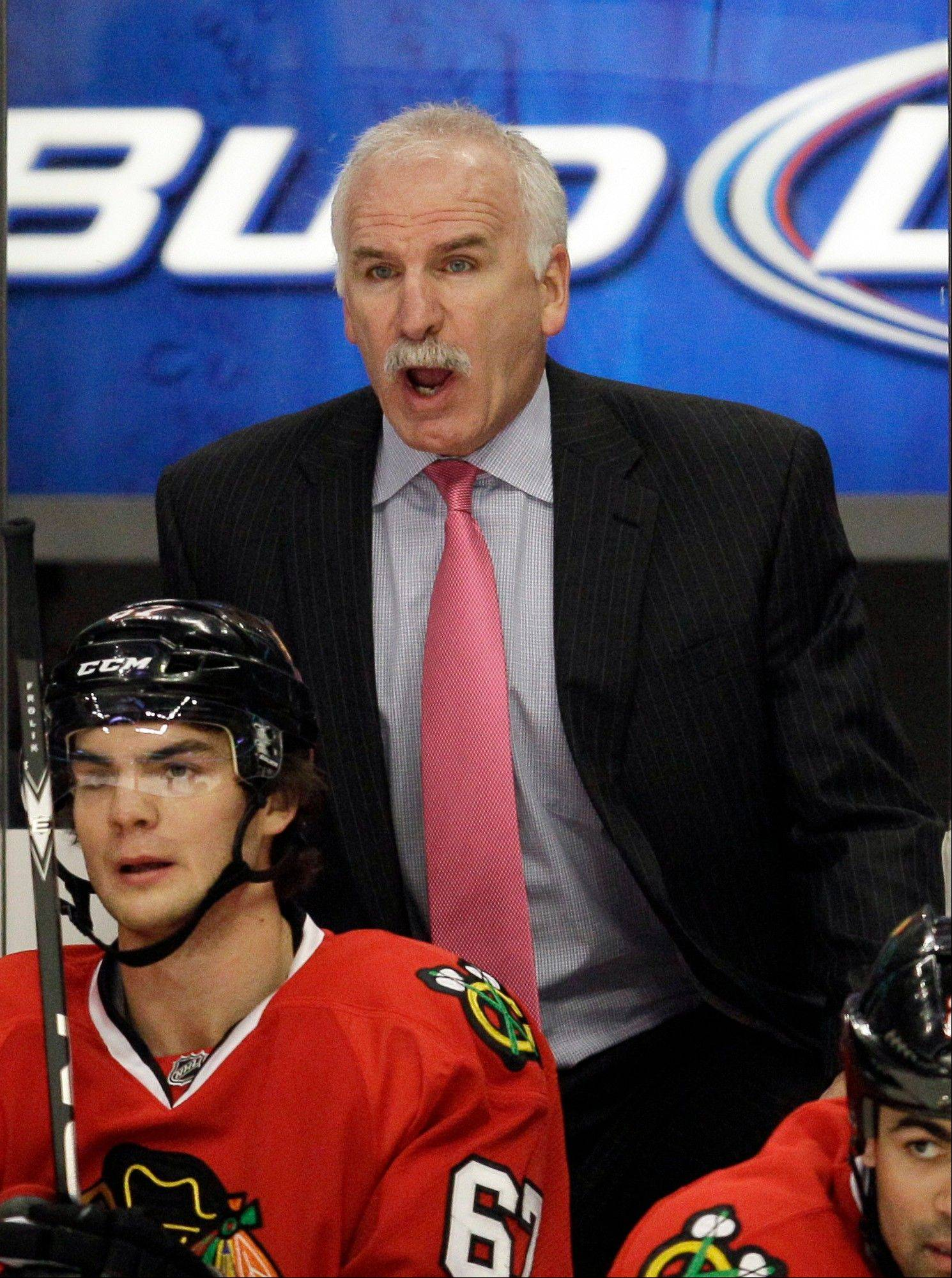 "Coach Joel Quenneville does not like what he is seeing from the Blackhawks defense, saying his team is giving up ""too many goals."""
