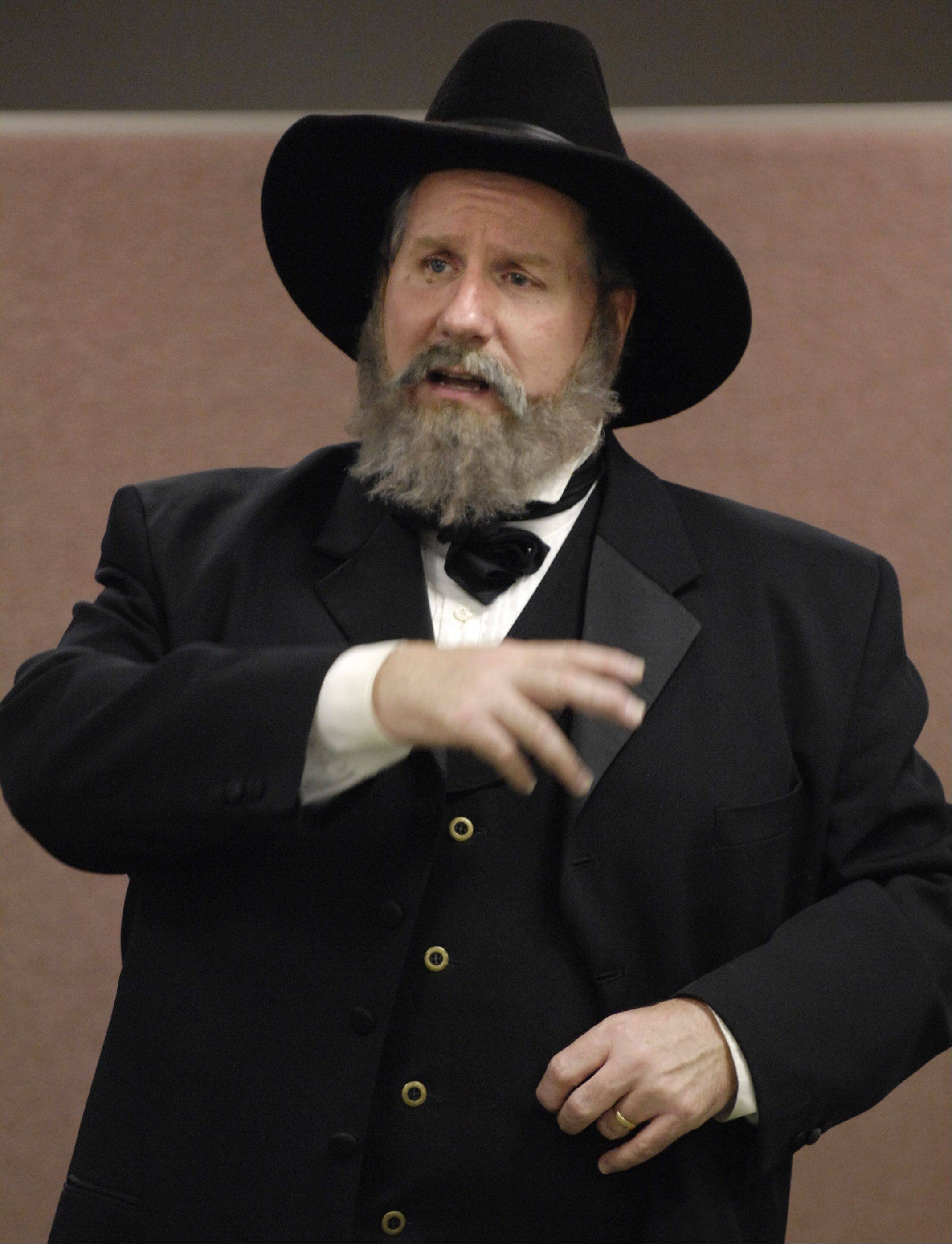 Civil War re-enactor Terry Lynch portrays Gen. Ulysses S. Grant as part of Naper Settlement History Speaks lecture Sunday.