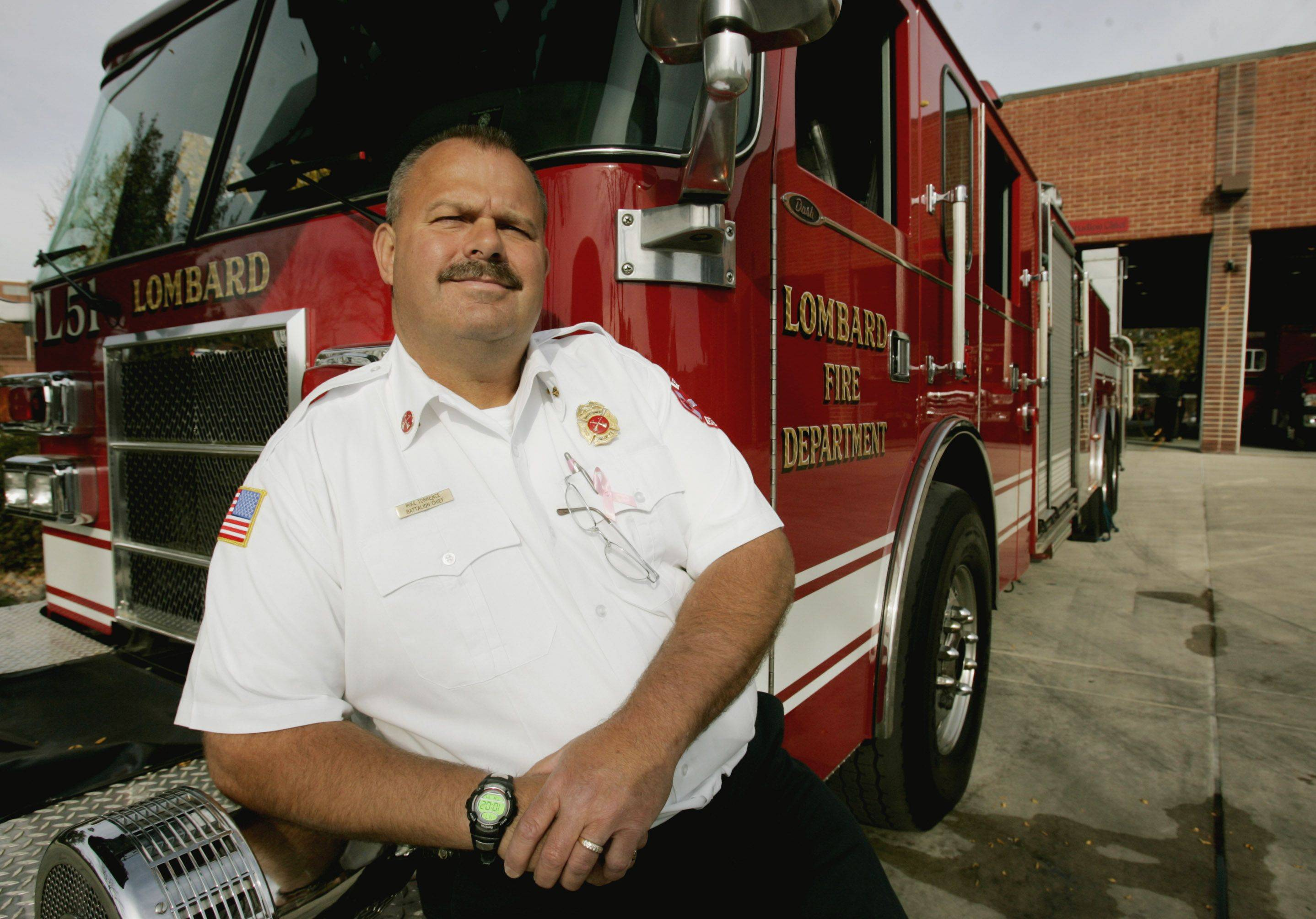 Lombard Fire Chief Mike Torrence took over Oct. 22, 2010, and is retiring Jan. 20 to become fire marshal for the Bristol Kendall Fire Department in Yorkville.