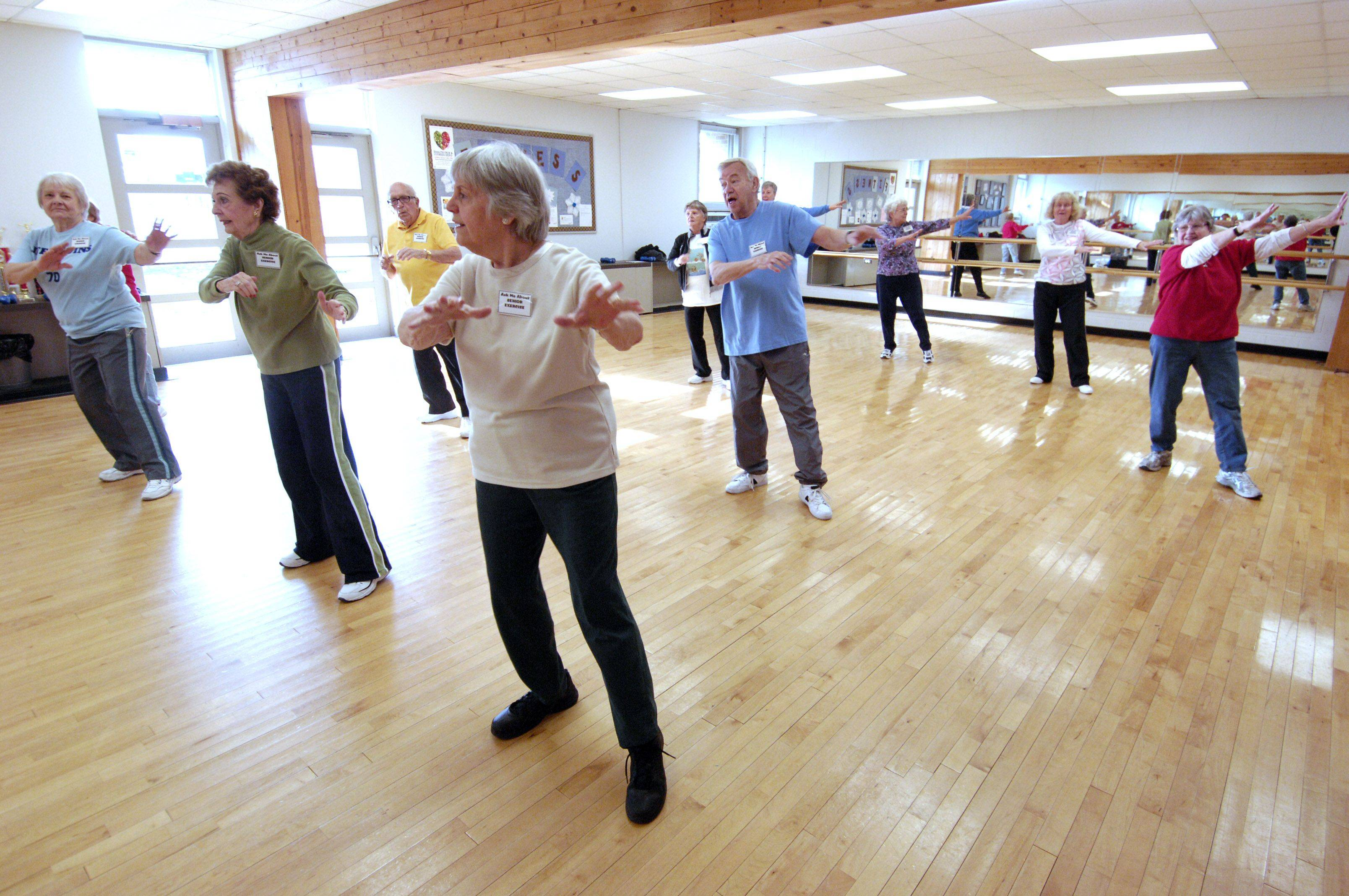 A senior aerobics class was demonstrated during the 2012 Health Fair and Fitness Expo Sunday at the Sunset Knoll Recreation Center in Lombard.