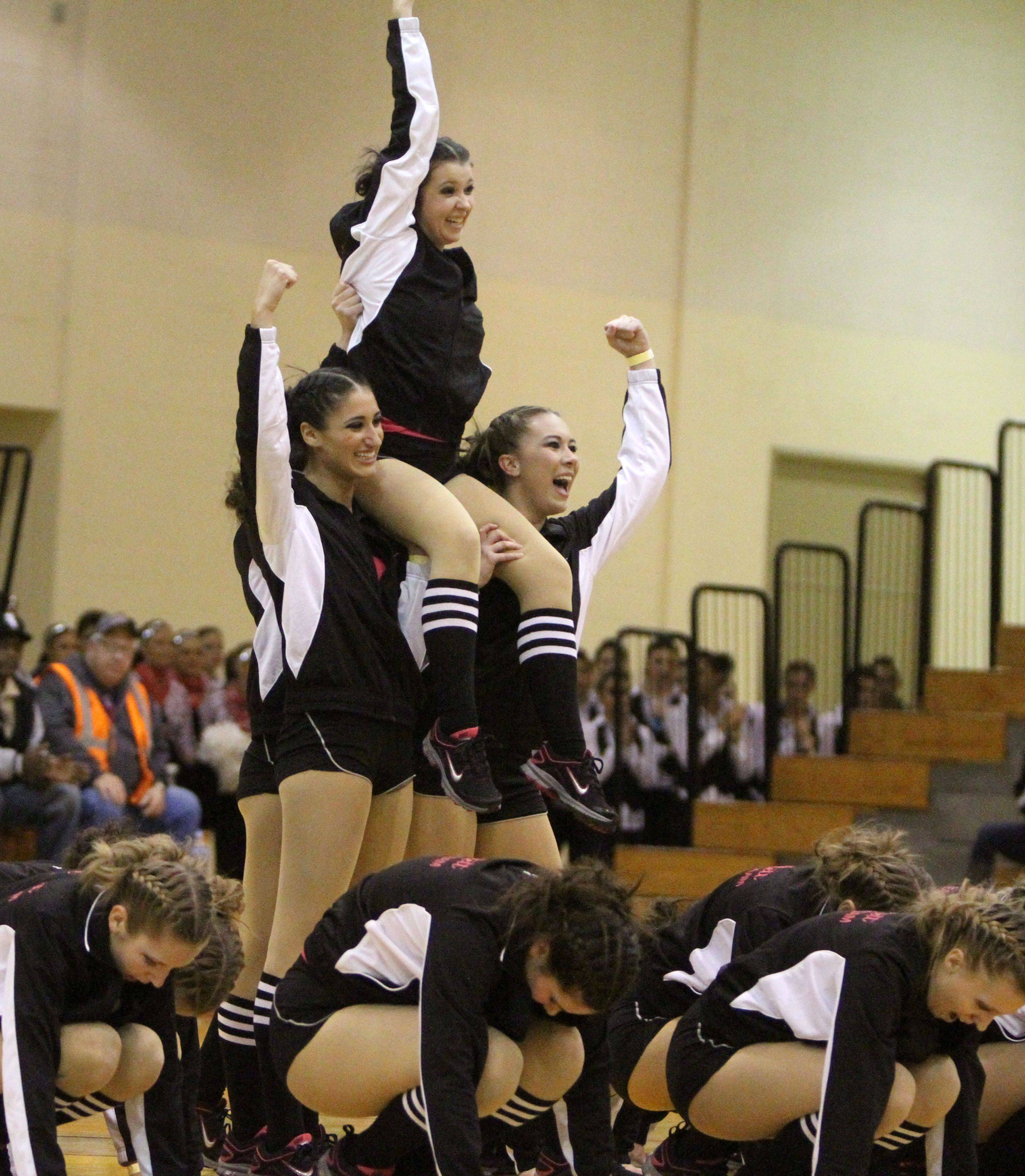 Dancers from Bartlett compete in the hip hop category Sunday during the Batavia Dance Classic at Batavia High School.