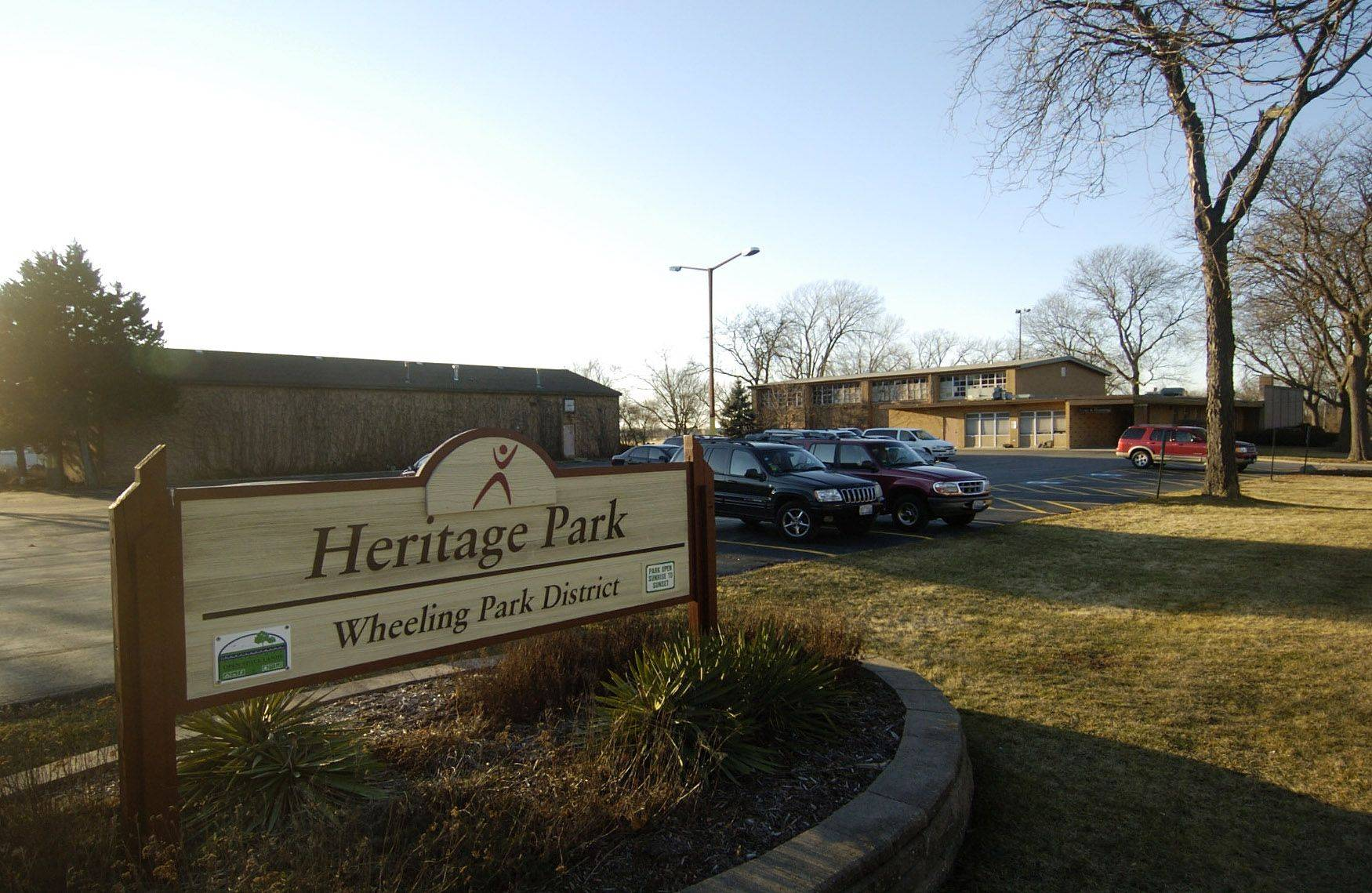 This is a view of how Heritage Park in Wheeling looks before the planned improvements.