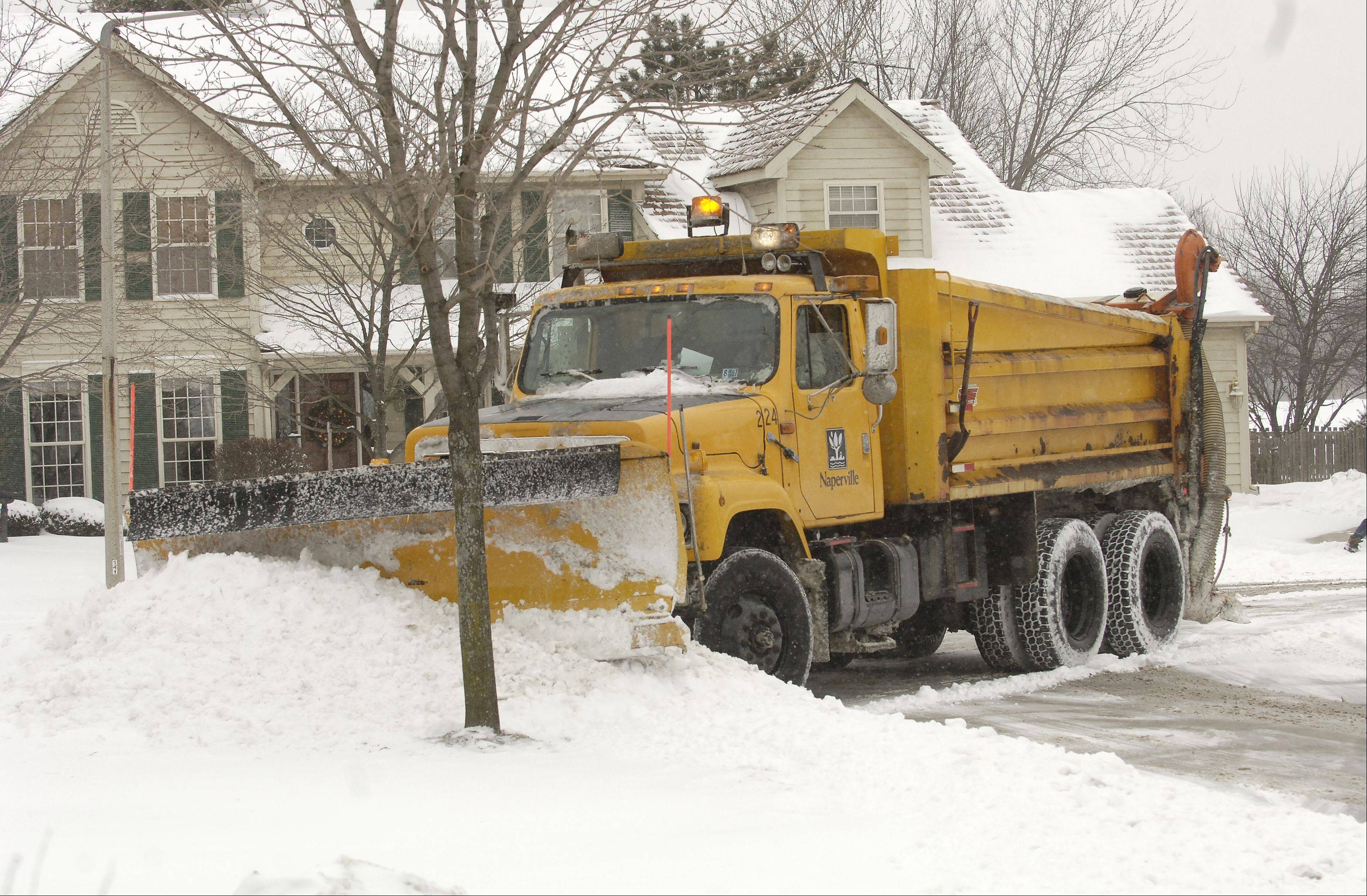Naperville residents are now able to track city snow plows, using a tool on the city's website, during snowfalls of two inches or more.