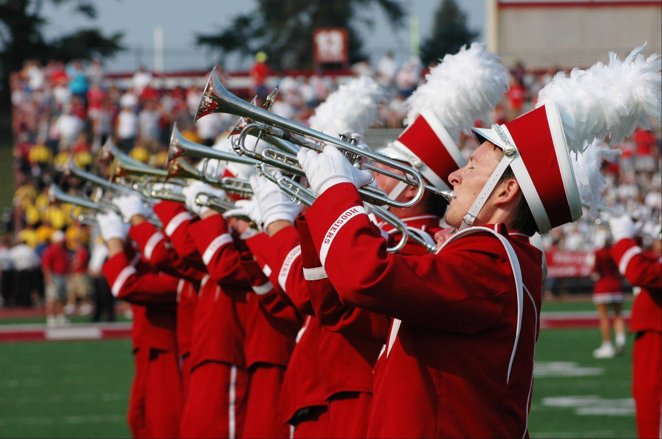The Indiana University Marching Hundred, which actually features more than 300 musicians including Carol Stream's Tim Camper, will perform next month during the Super Bowl pregame show in Indianapolis.