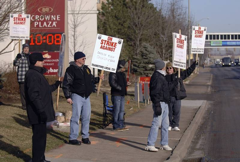 A Tentative Agreement Has Been Reached In The Strike By Drivers And Bellmen At Crowne