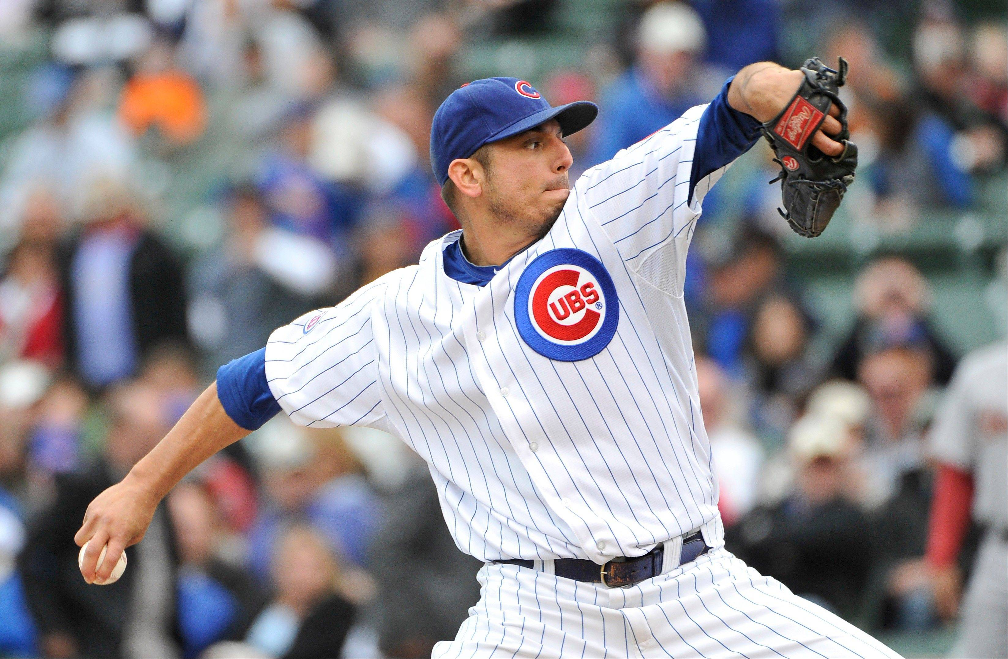 Cubs president Theo Epstein says the team is not shopping starting pitcher Matt Garza, and he's looking forward to Garza being on the mound for the Cubs next season.